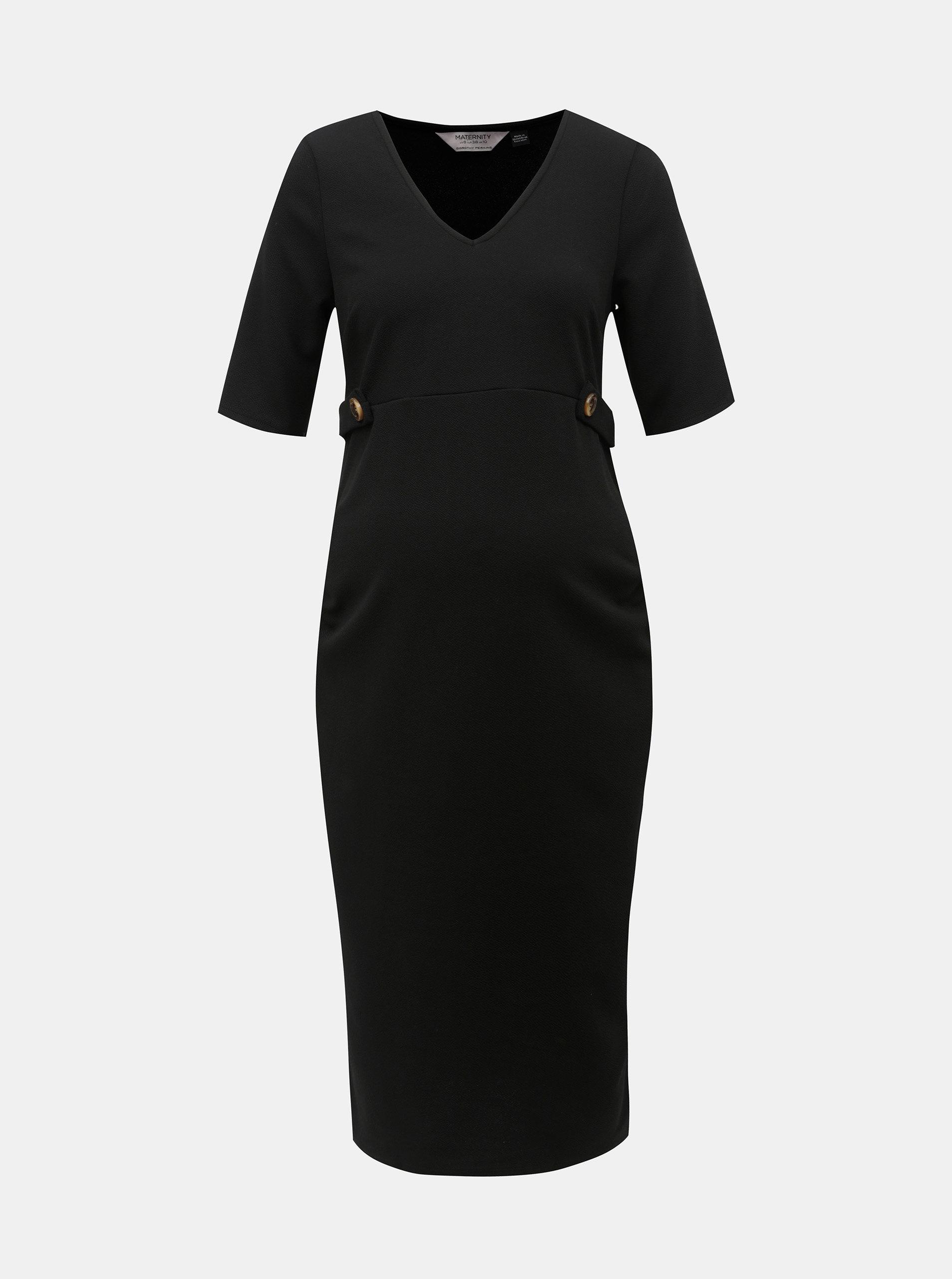 Čierne tehotenské puzdrové šaty Dorothy Perkins Maternity ... f8ce38d229f