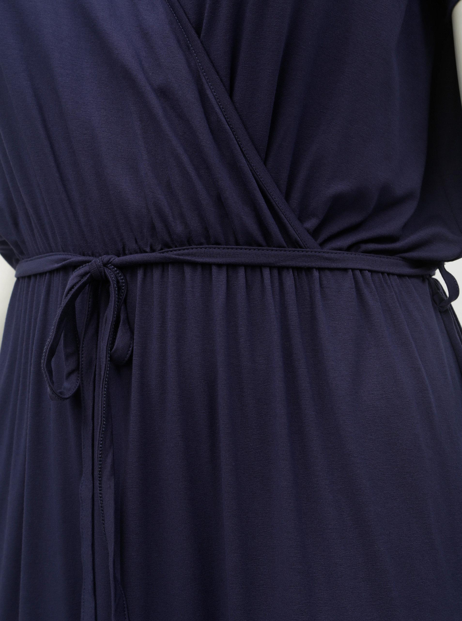0bfce5deb809 Tmavě modré maxišaty s překládaným výstřihem Dorothy Perkins Curve ...