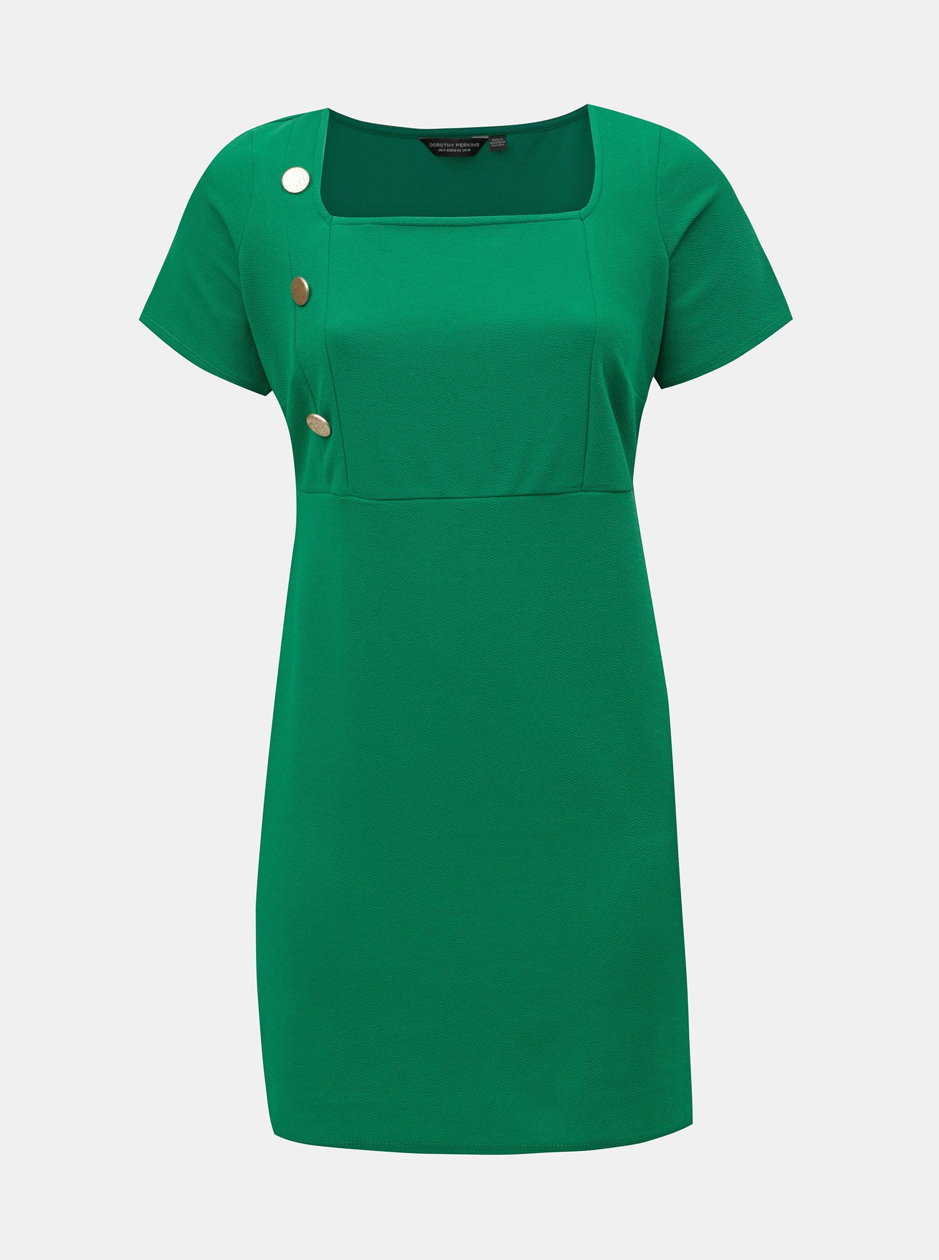 0f893f8096a8 Zelené puzdrové šaty s gombíkmi Dorothy Perkins Curve ...