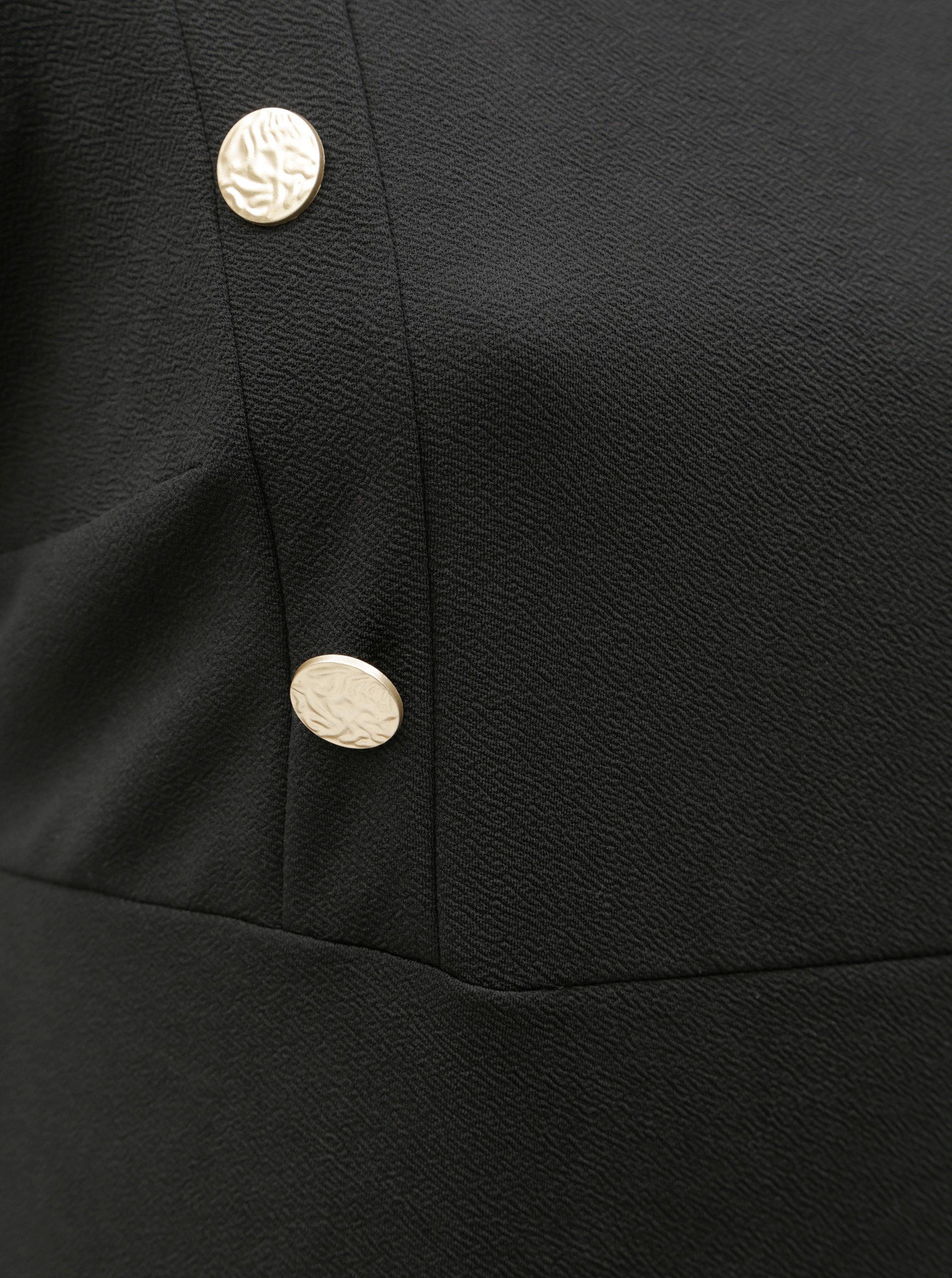Čierne puzdrové šaty s gombíkmi Dorothy Perkins Curve ... ac4d3dc8547