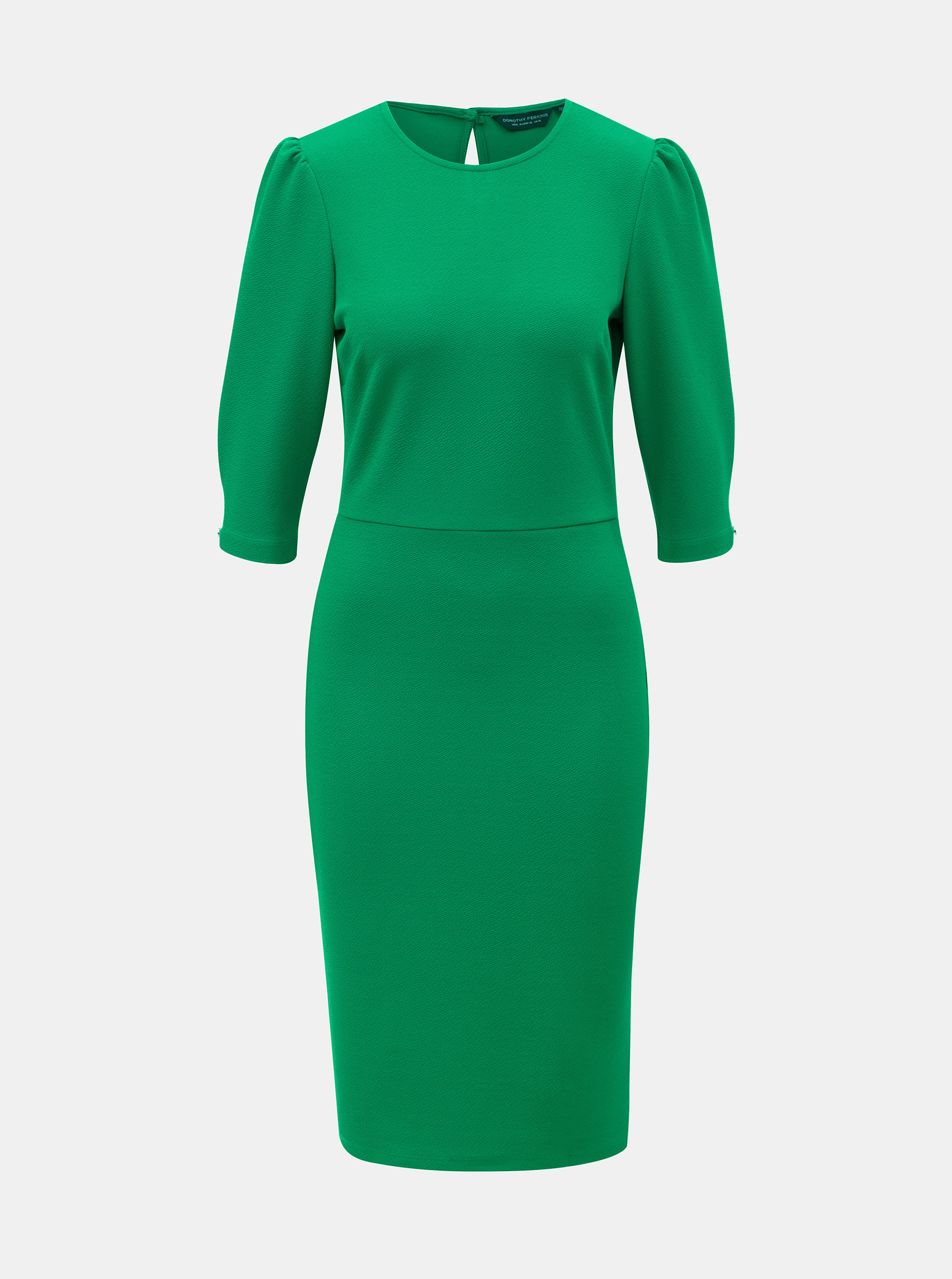 0ddf26fdfba2 Zelené puzdrové šaty s 3 4 rukávom Dorothy Perkins ...