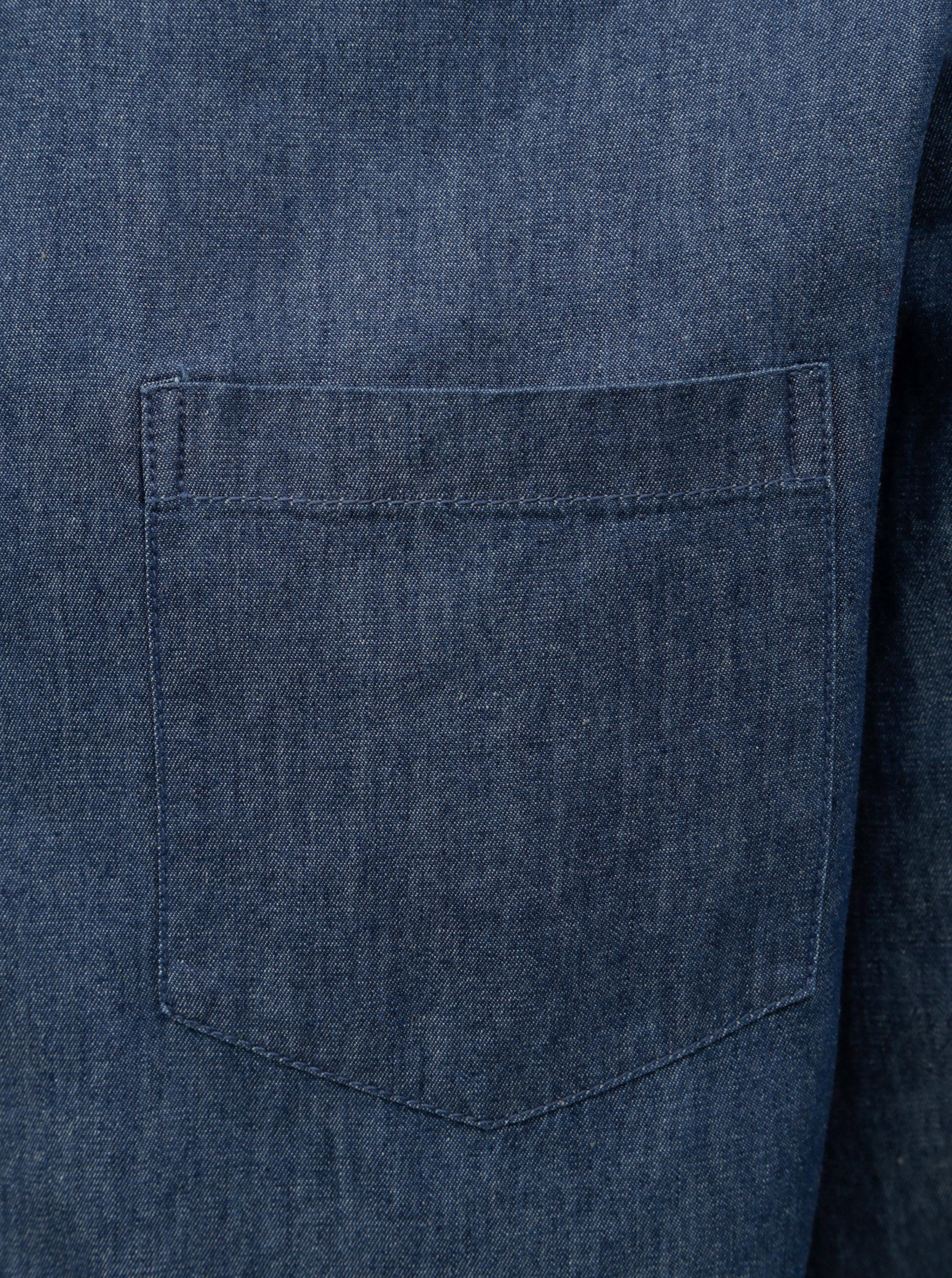 6f0df57c329c Modrá rifľová košeľa Burton Menswear London ...