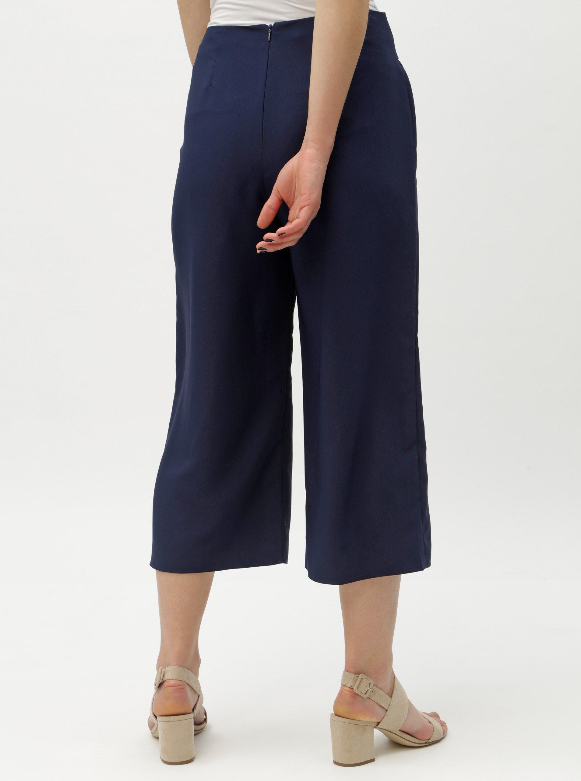 Tmavě modré culottes s vysokým pasem Dorothy Perkins ... 0c490fc908