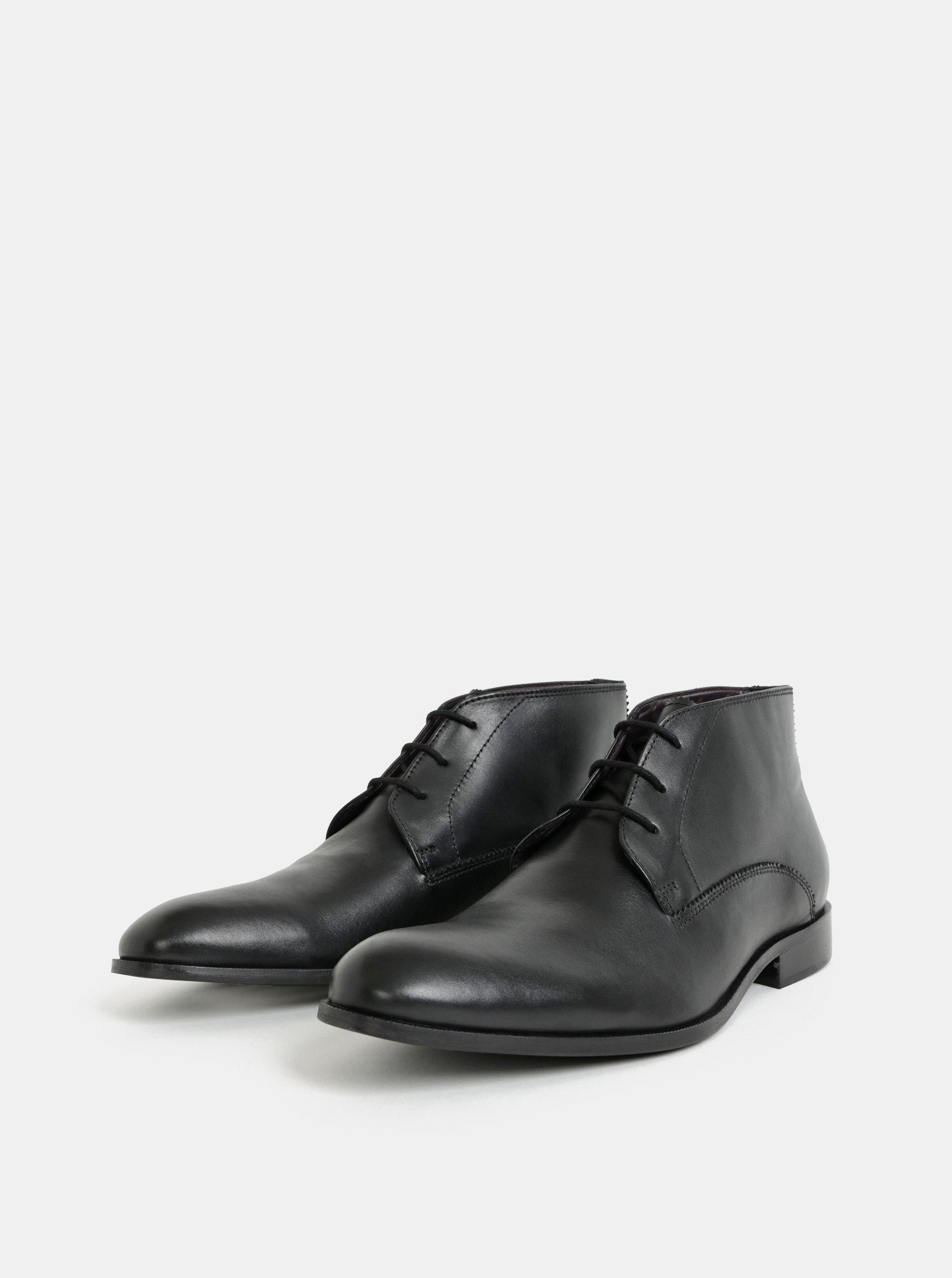 8e21924b3 Čierne pánske kožené členkové topánky Burton Menswear London | ZOOT.sk