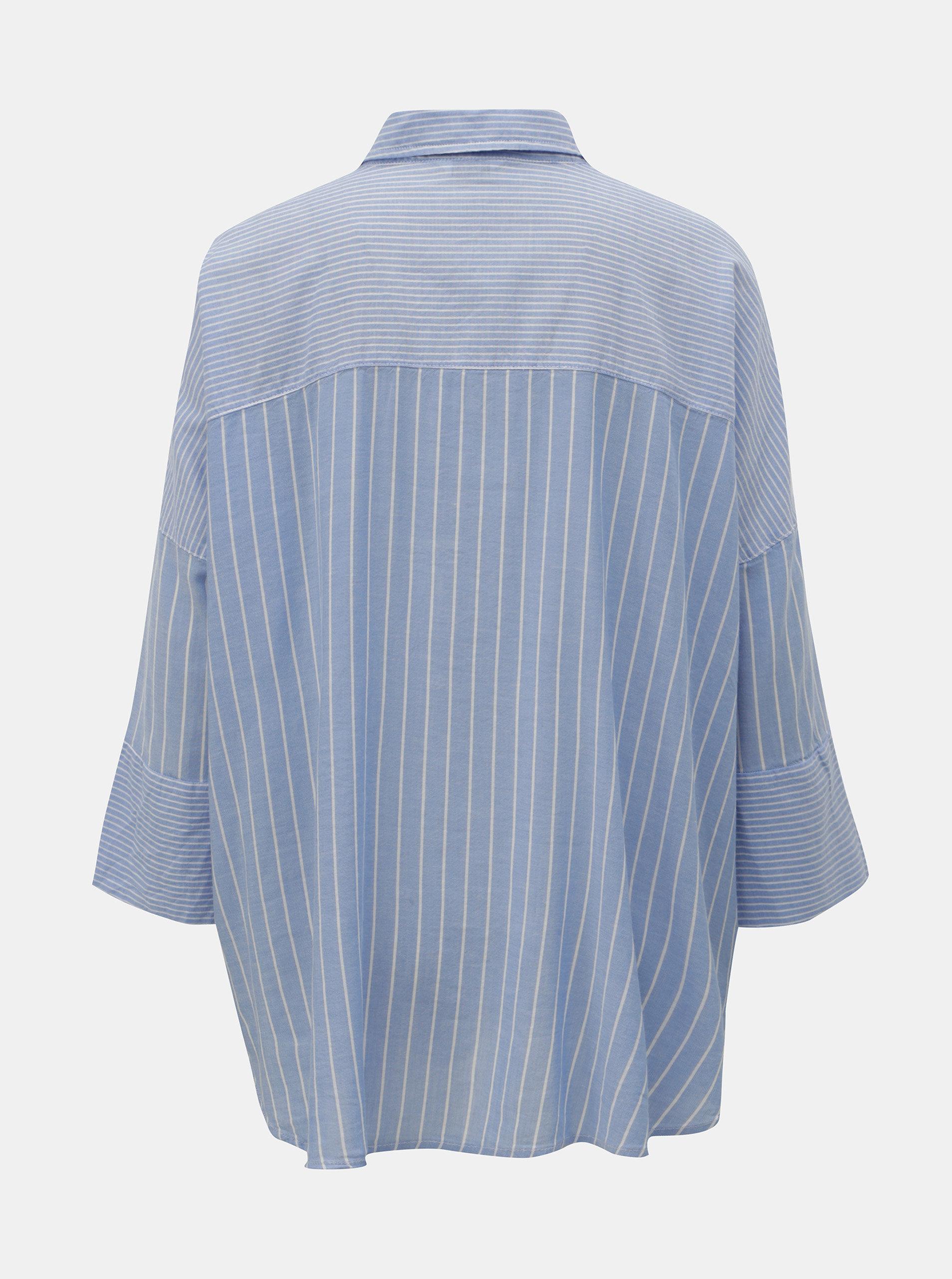 b6fbc5f5455d Modrá pruhovaná košeľa ONLY Grace ...