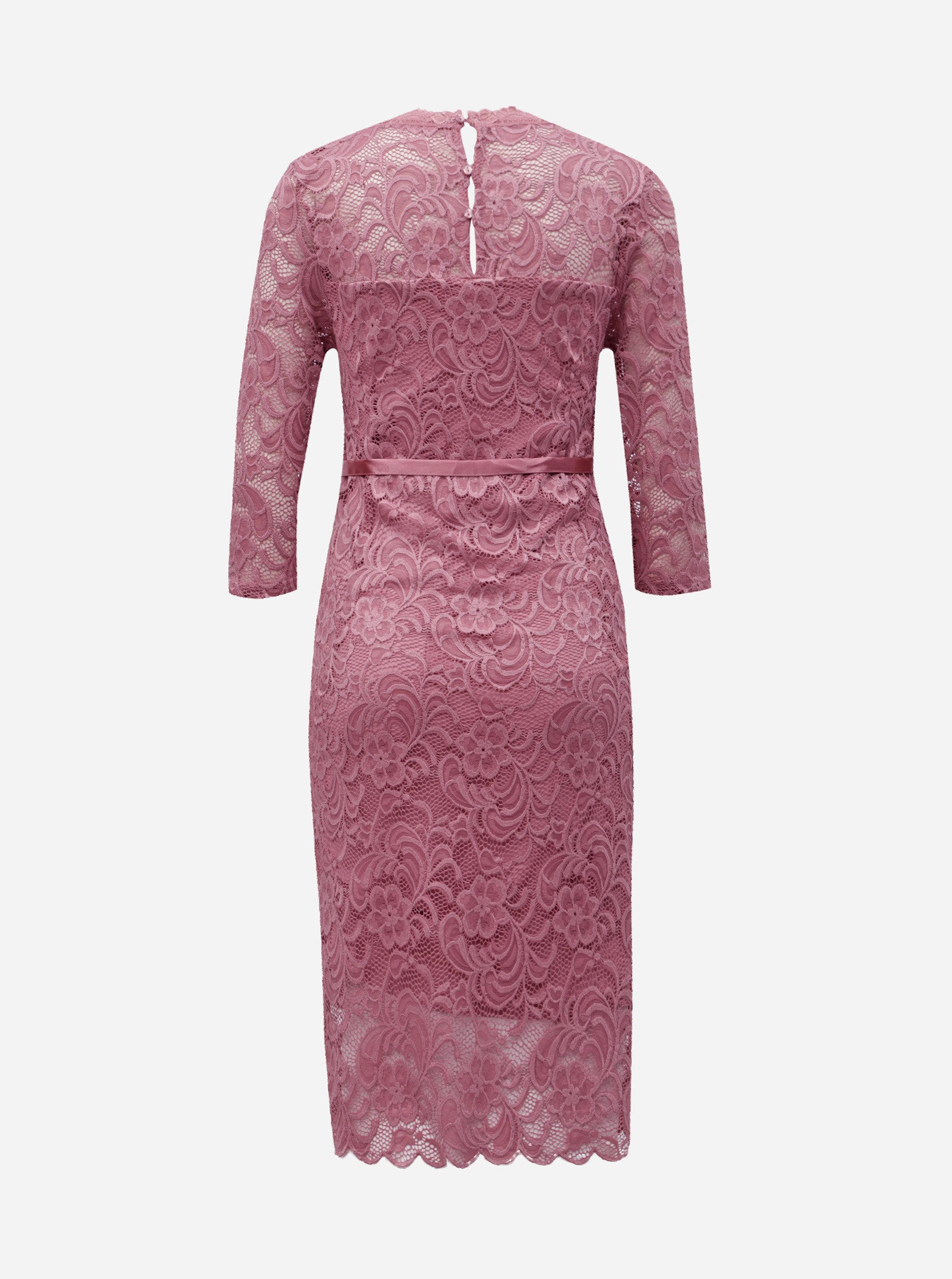 Ružové čipkované tehotenské šaty Mama.licious Mivana ... e94fd308795
