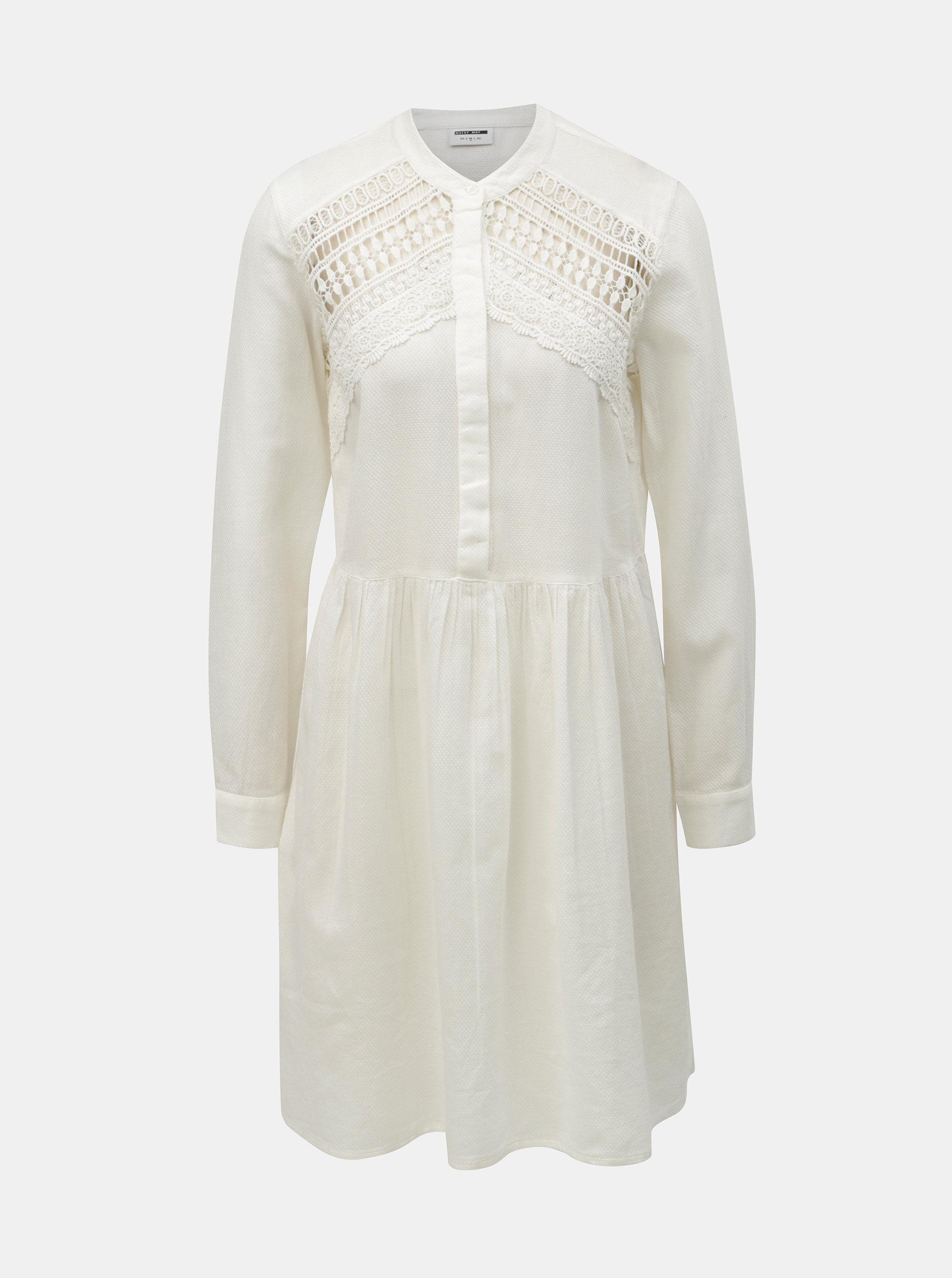 Bílé šaty s krajkou Noisy May Arge ... 6e62034d46