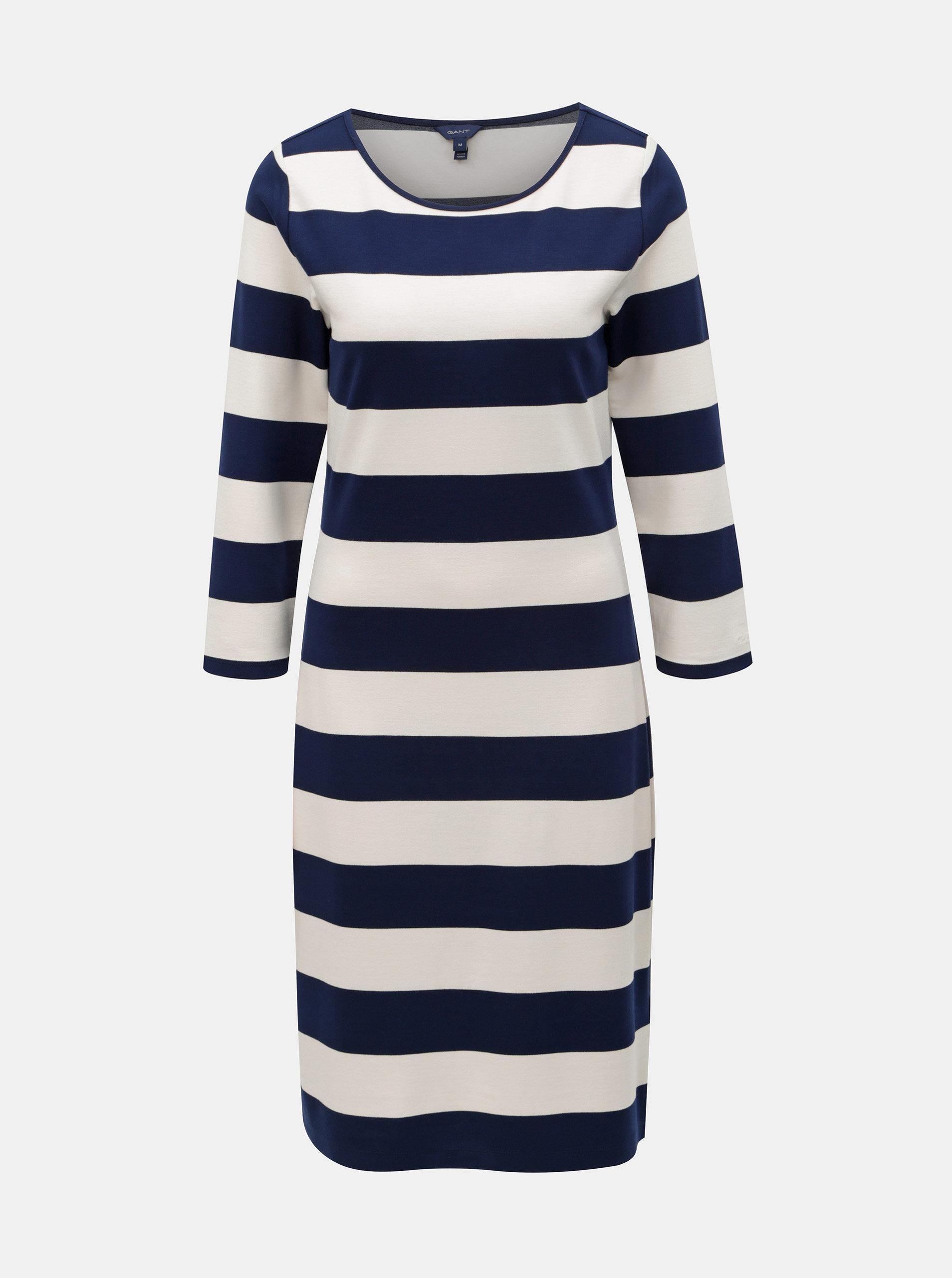 bfc37892bd97 Bielo–modré pruhované šaty GANT ...