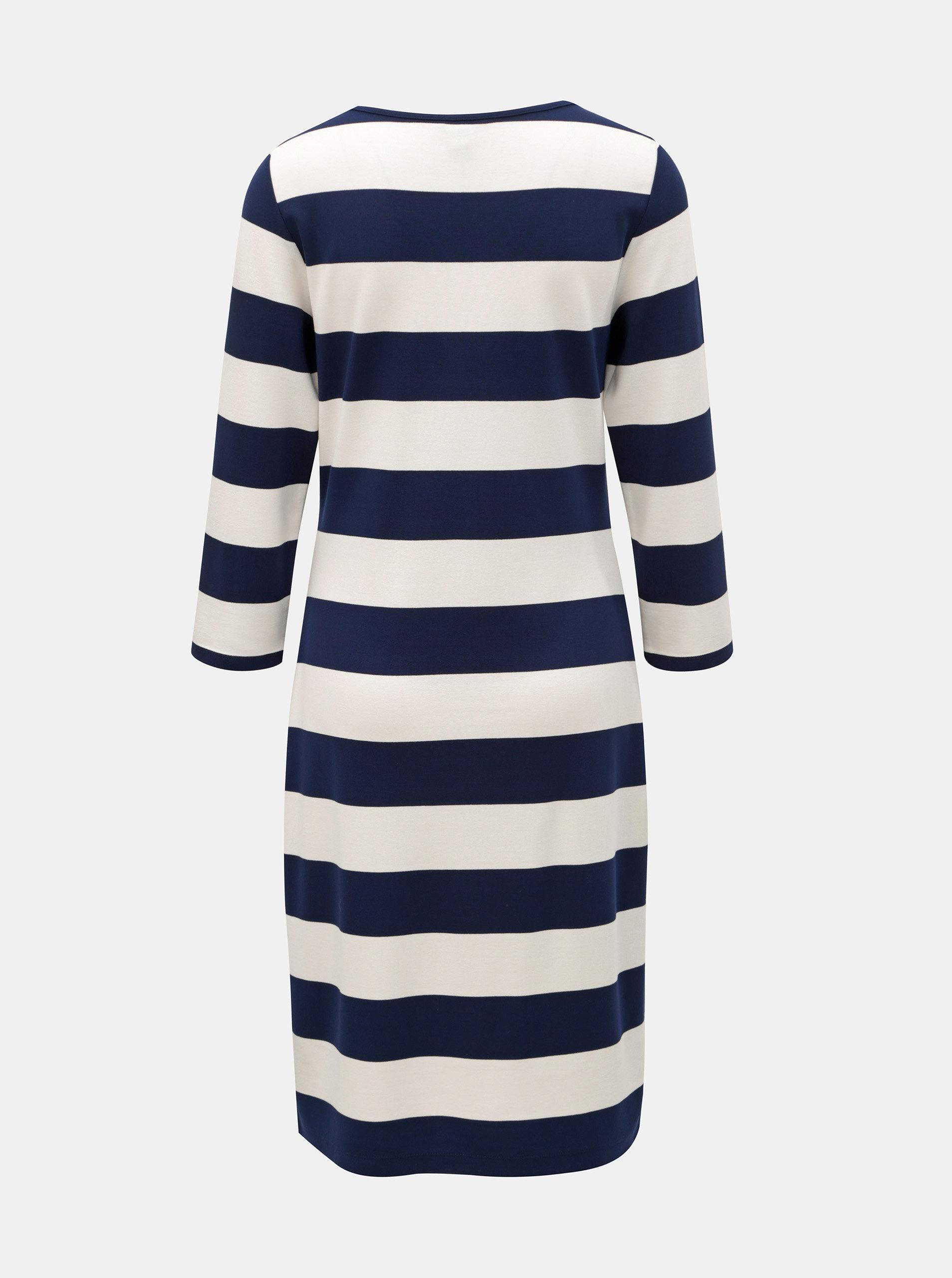 25507fe2112a Bielo–modré pruhované šaty GANT ...