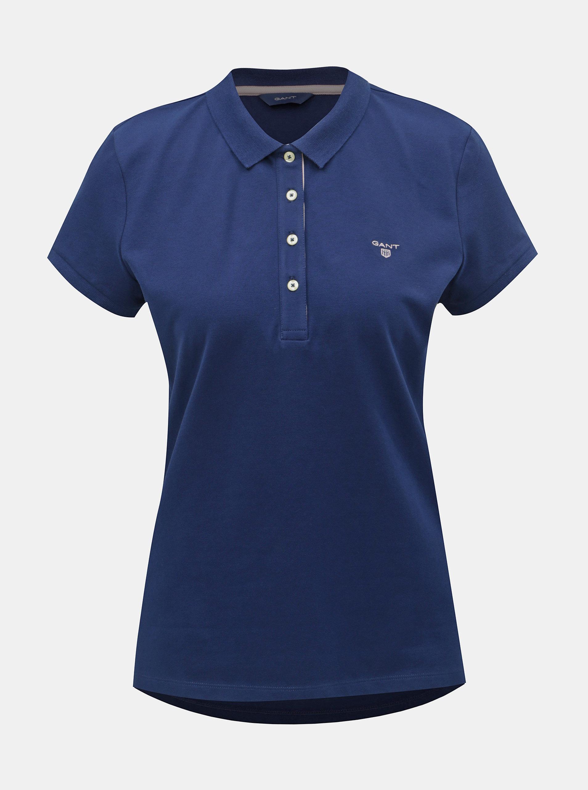 070ee43722d9 Tmavě modré dámské polo tričko GANT ...
