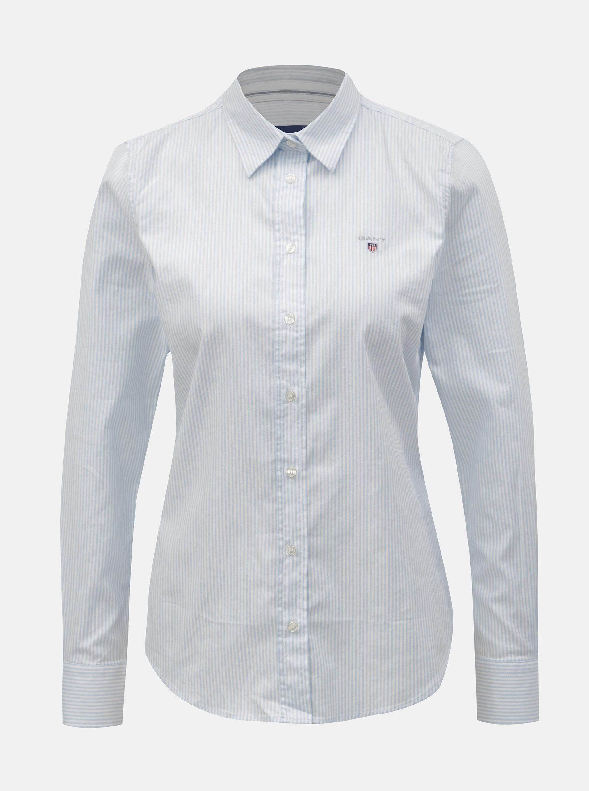 057820f001 Bielo–modrá dámska pruhovaná slim košeľa GANT ...