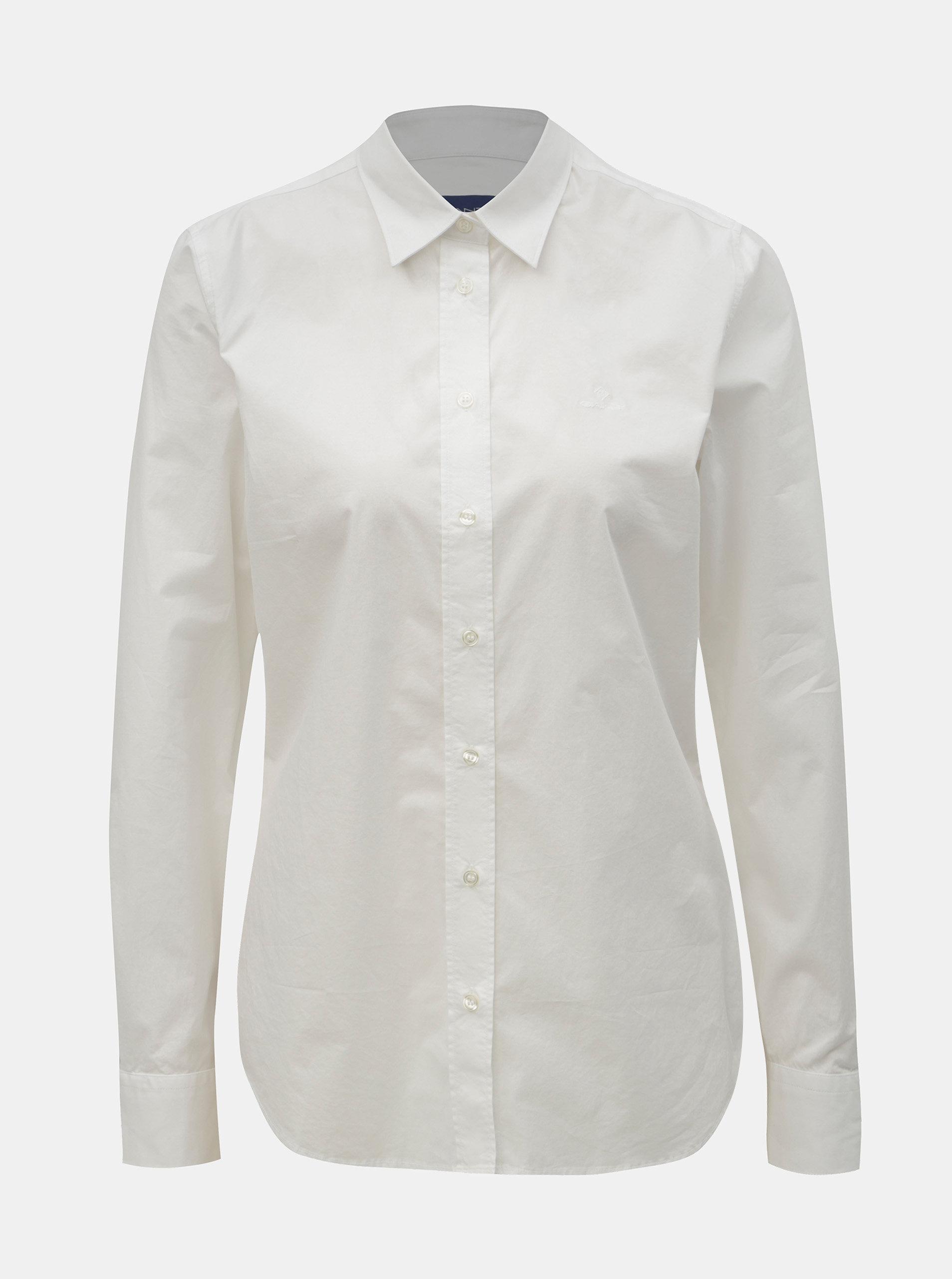 861d6cc8583c Biela dámska košeľa GANT ...