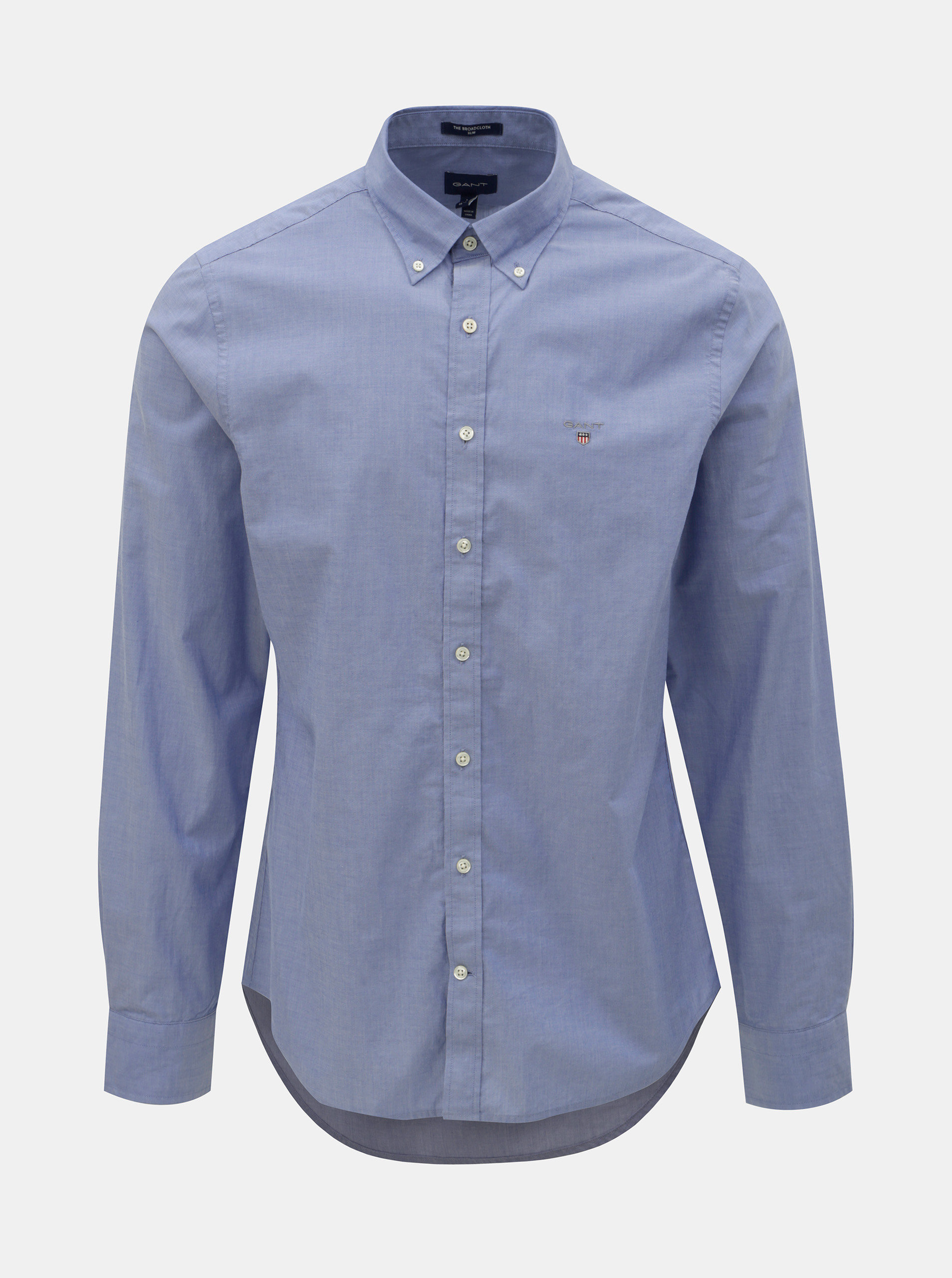 38417a6c0a4b Modrá pánska slim fit košeľa GANT ...