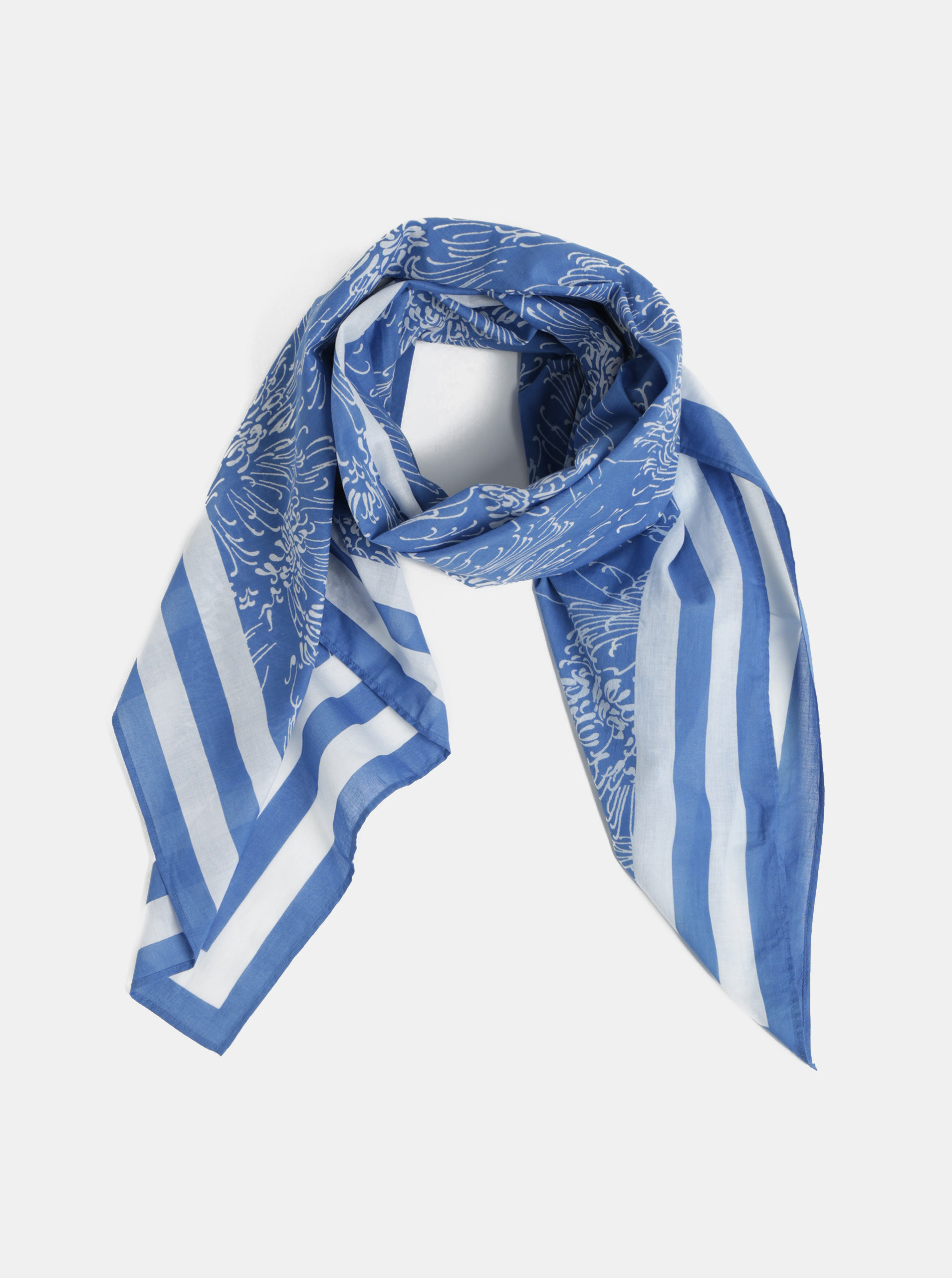 ef8fcc3c6 Bílo-modrý dámský vzorovaný šátek GANT | ZOOT.cz