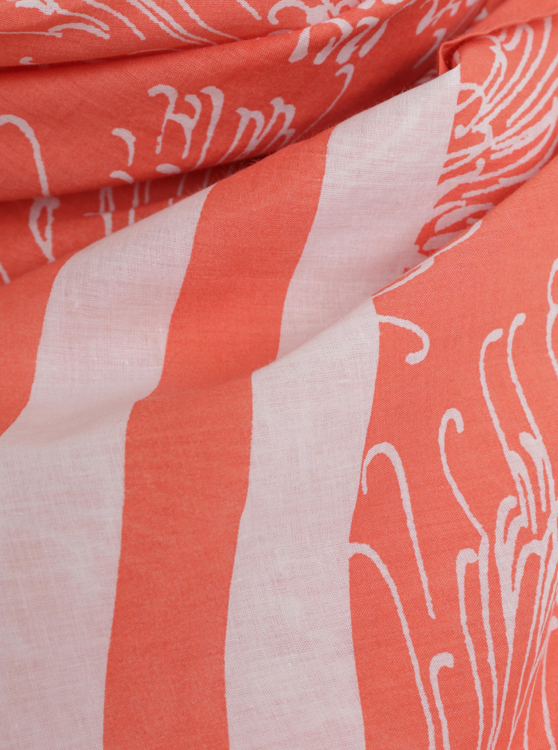 52cf2aac1 Bílo-oranžový dámský vzorovaný šátek GANT | ZOOT.cz