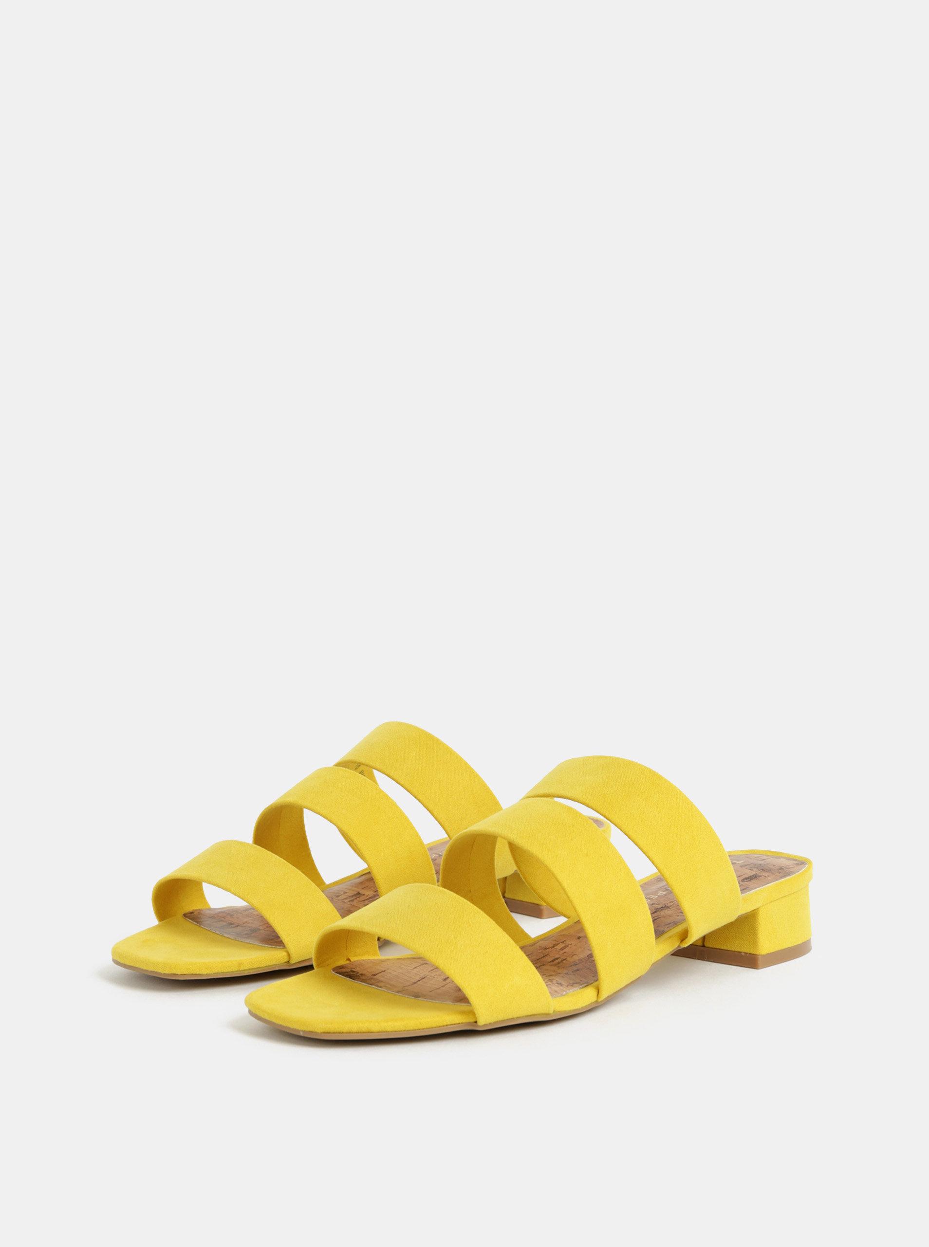 296574b38a32 Žlté šľapky v semišovej úprave Dorothy Perkins ...