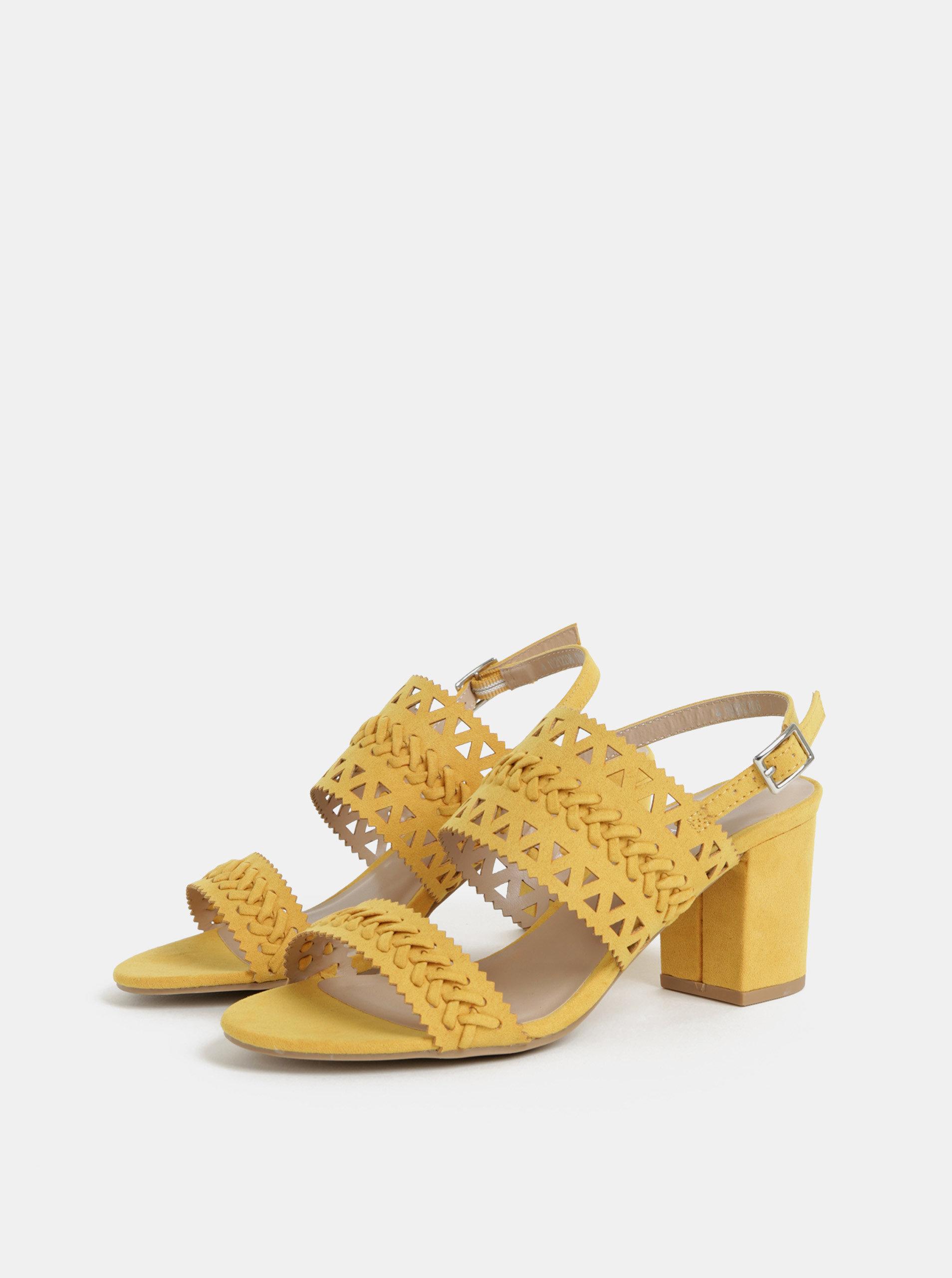 a64a3890706c Žlté sandále v semišovej úprave Dorothy Perkins ...