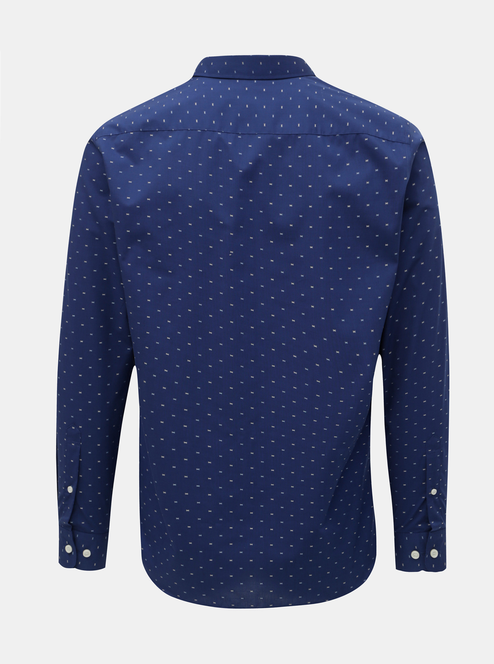aefb9d21246d Tmavomodrá vzorovaná formálna slim fit košeľa Selected Homme Sel-Walker ...