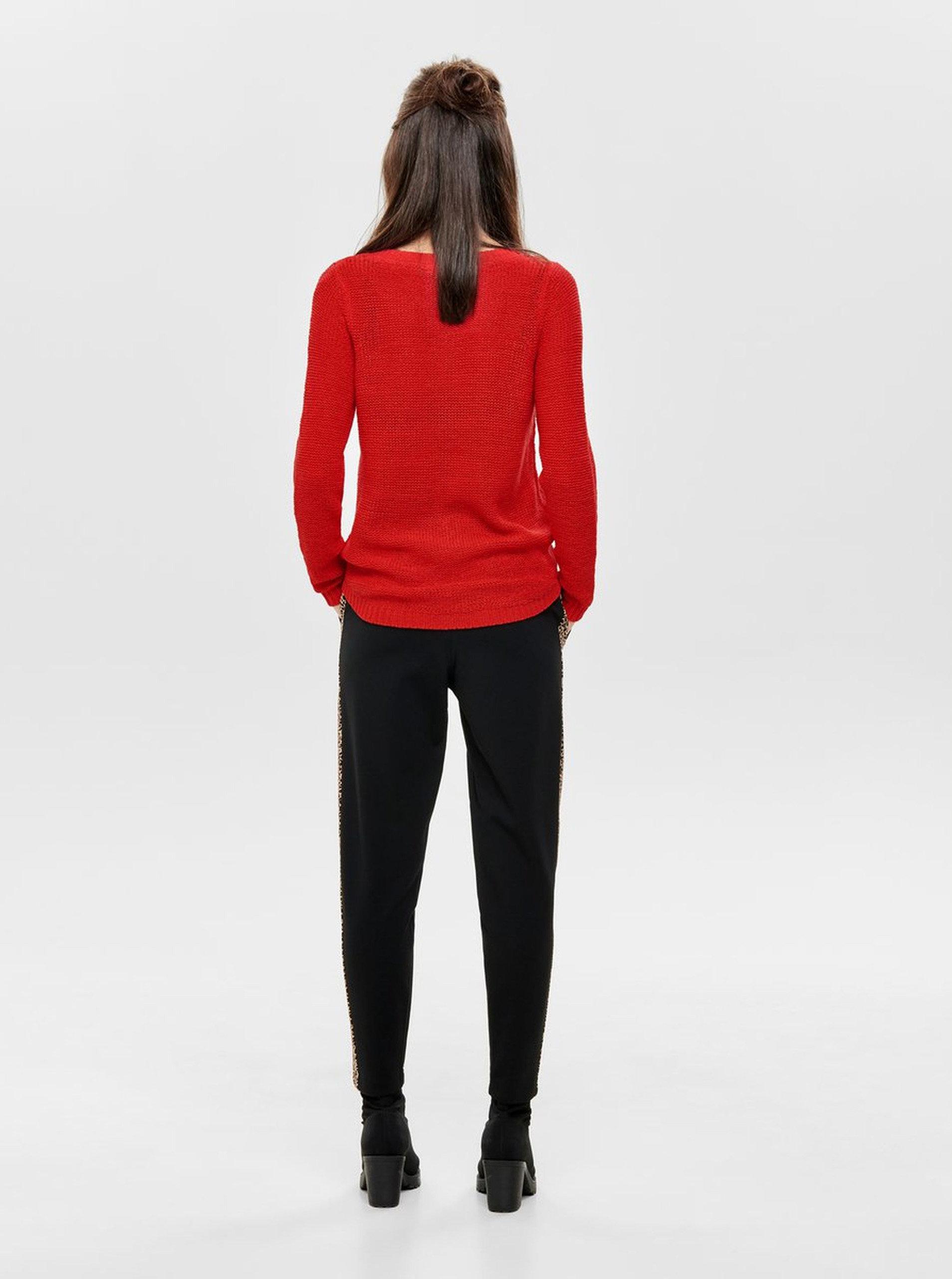 80d2dc9252cf Červený sveter ONLY Geena ...