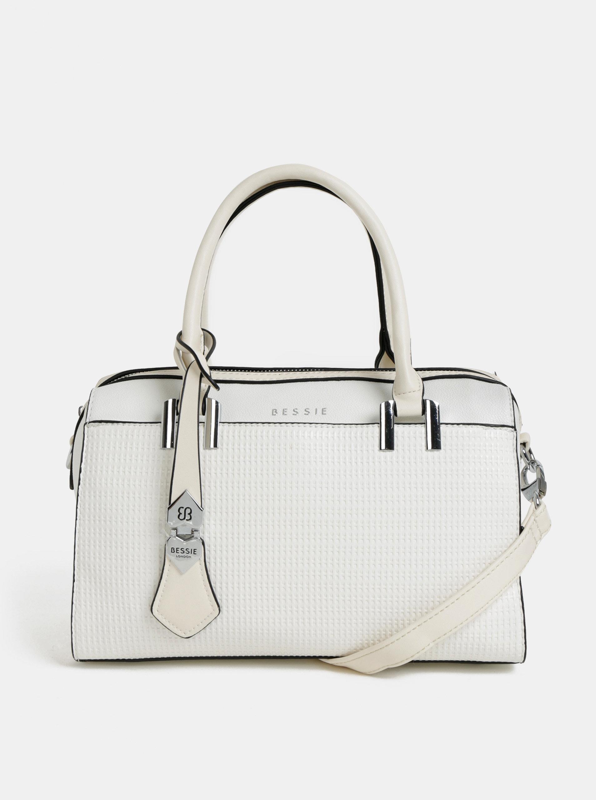 b13fecf6bd Bílá kabelka Bessie London ...