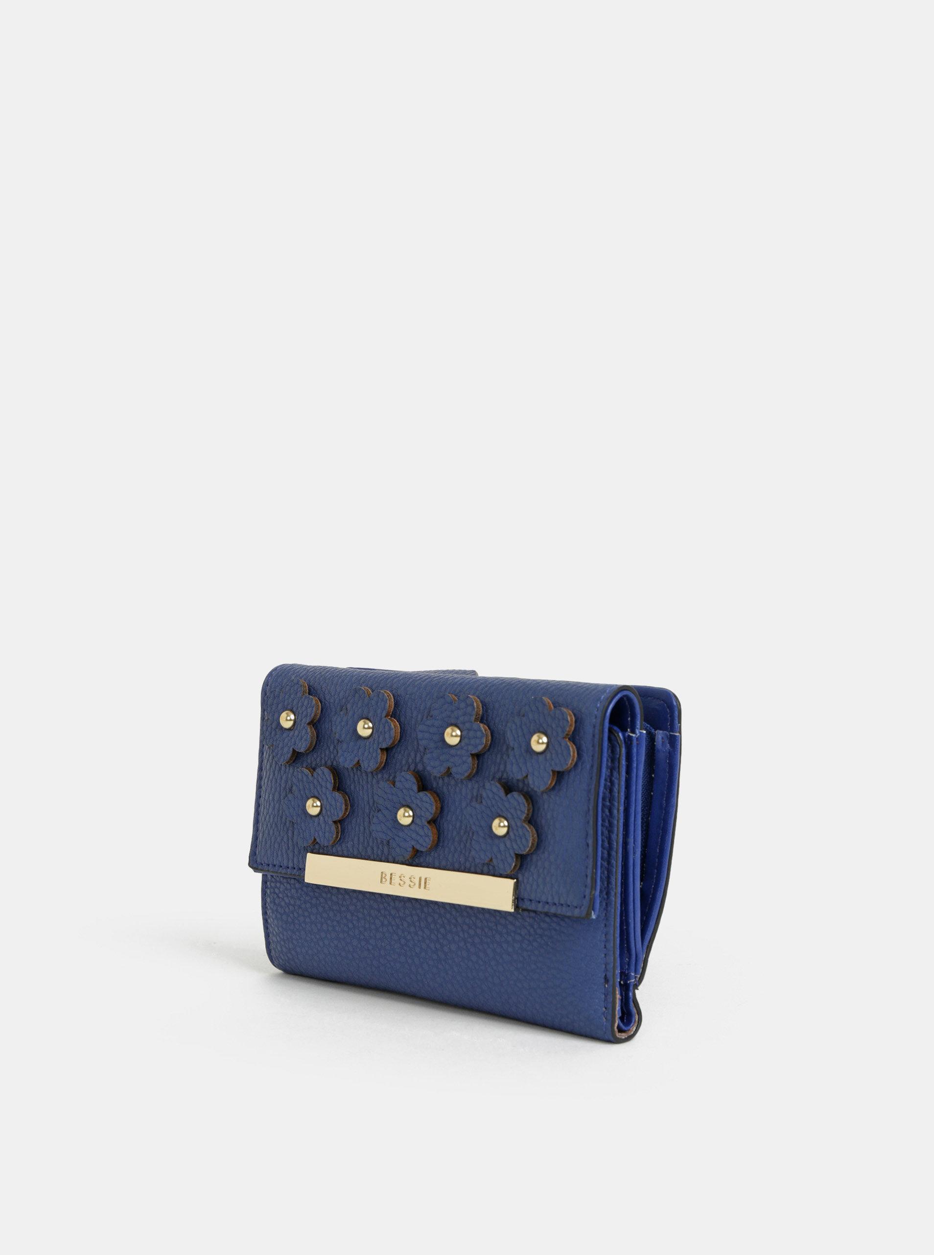 306c169253 Modrá peňaženka s ozdobnými detailmi Bessie London ...
