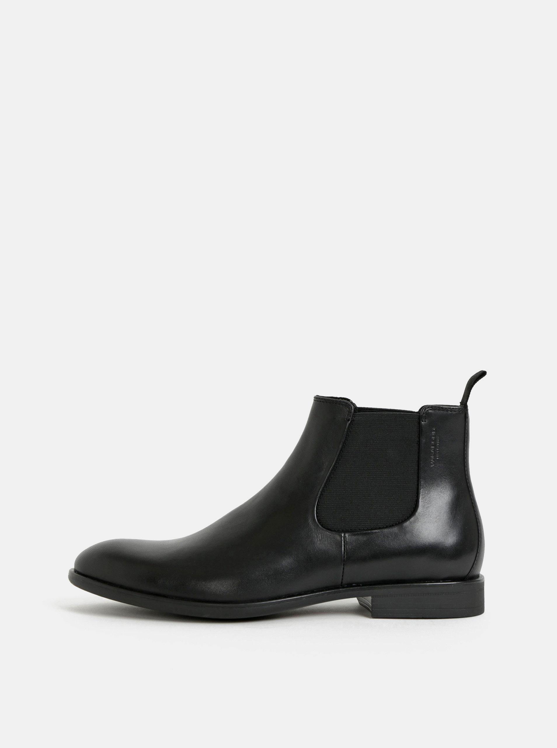 4c81b3dc6e Čierne pánske kožené chelsea topánky Vagabond Harvey ...