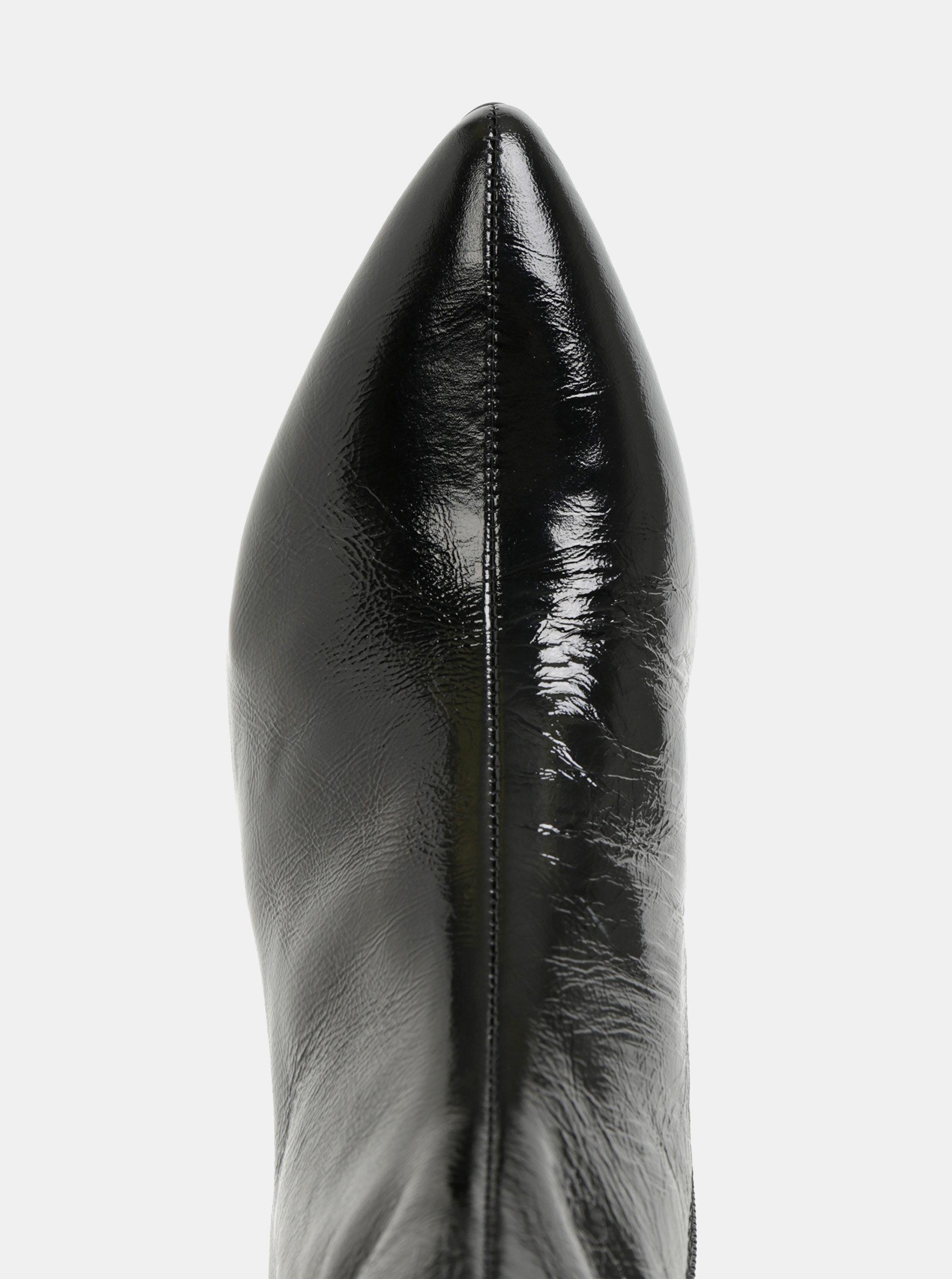 9e19057d0fc5 Čierne dámske kožené členkové topánky Vagabond Mya ...
