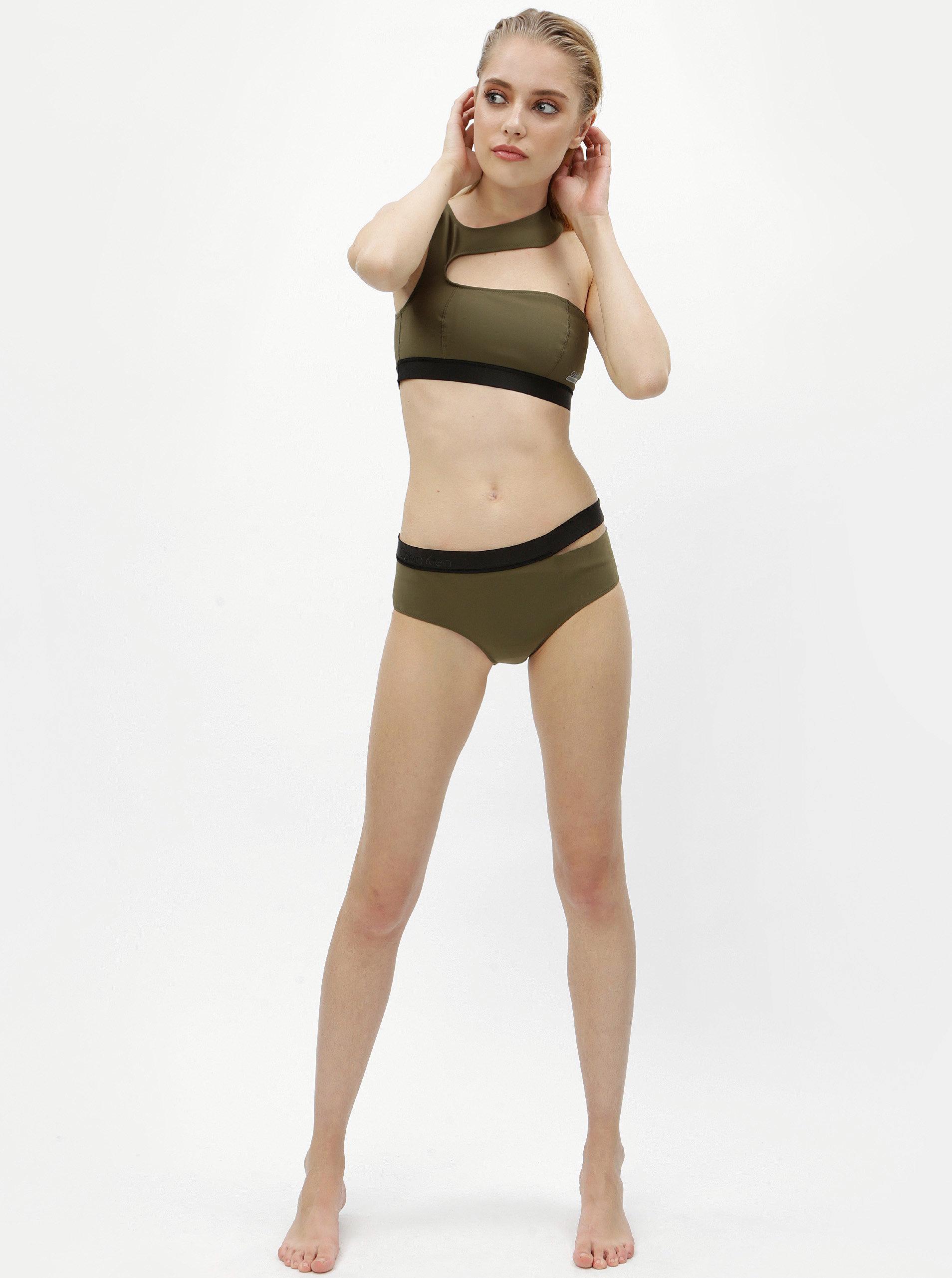 128c26d1b78c Zelený spodní díl plavek Calvin Klein Underwear ...
