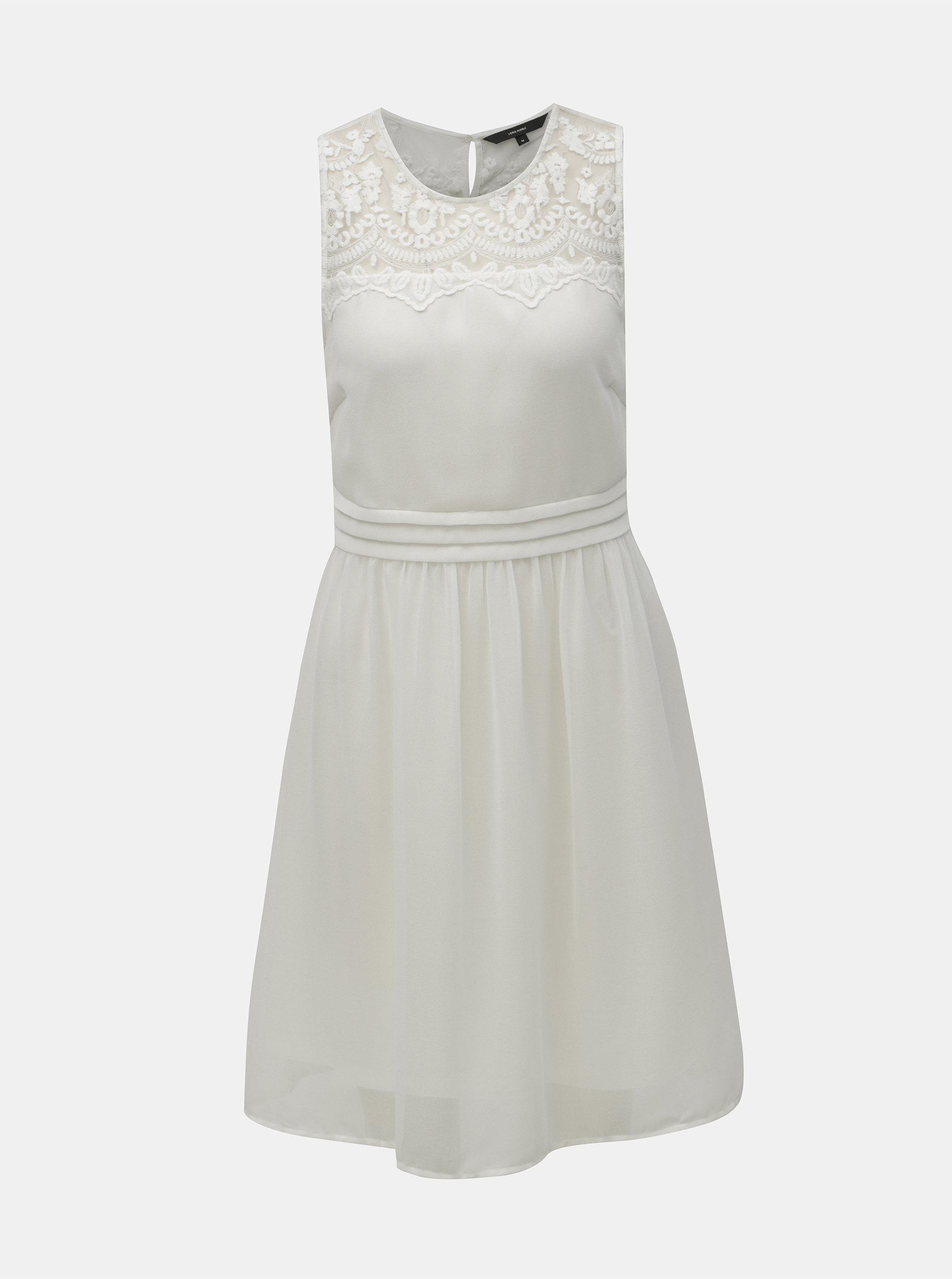 2568f23b9819 Biele šaty s čipkou VERO MODA Vanessa ...