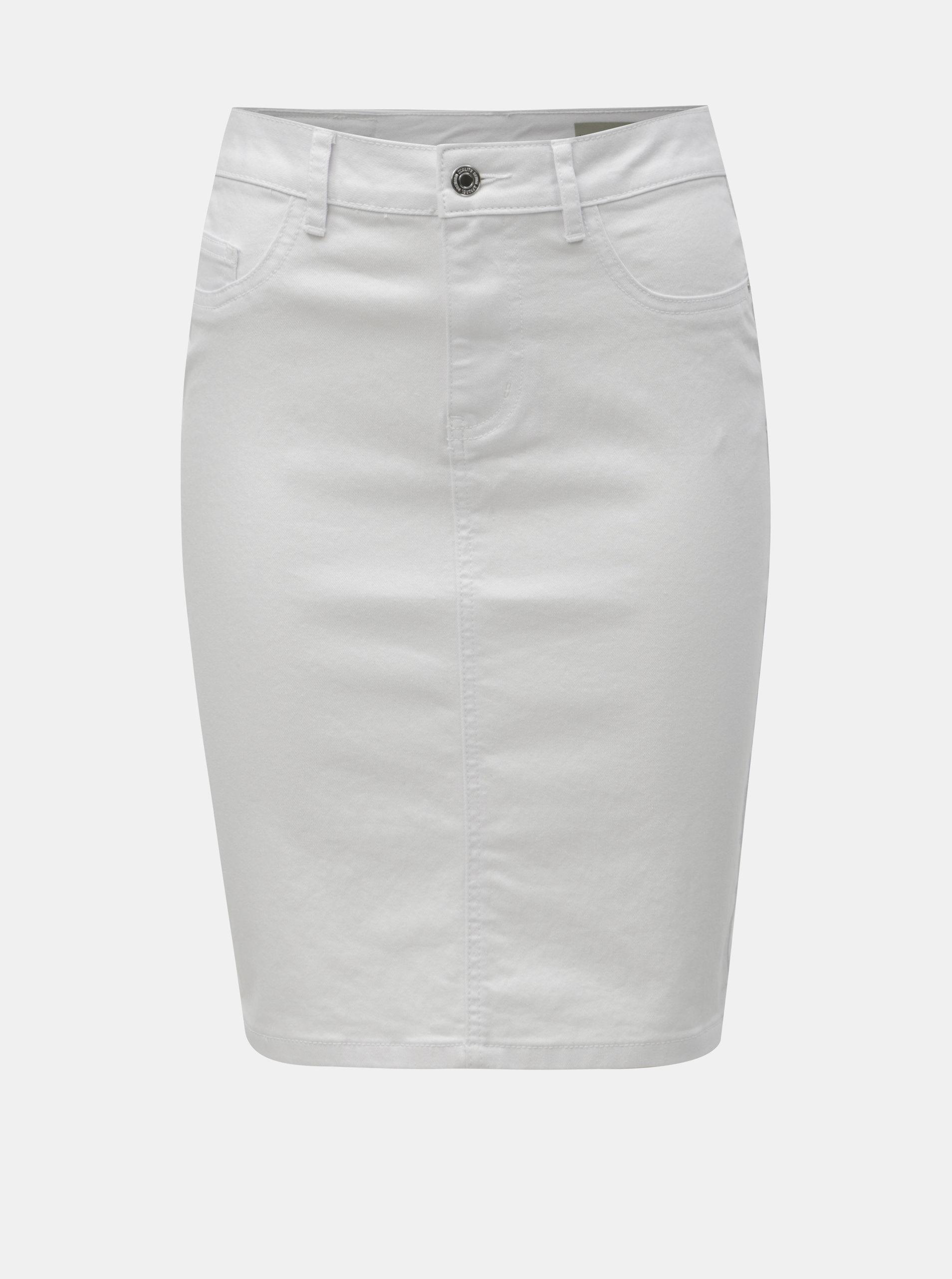 822a85a94e61 Biela rifľová puzdrová sukňa VERO MODA Hot Nine ...