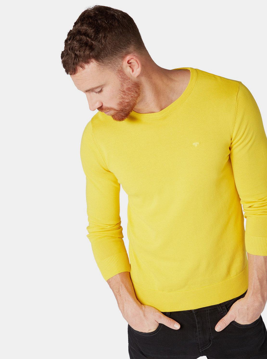 c806402b0eb9 Žlutý pánský svetr Tom Tailor ...
