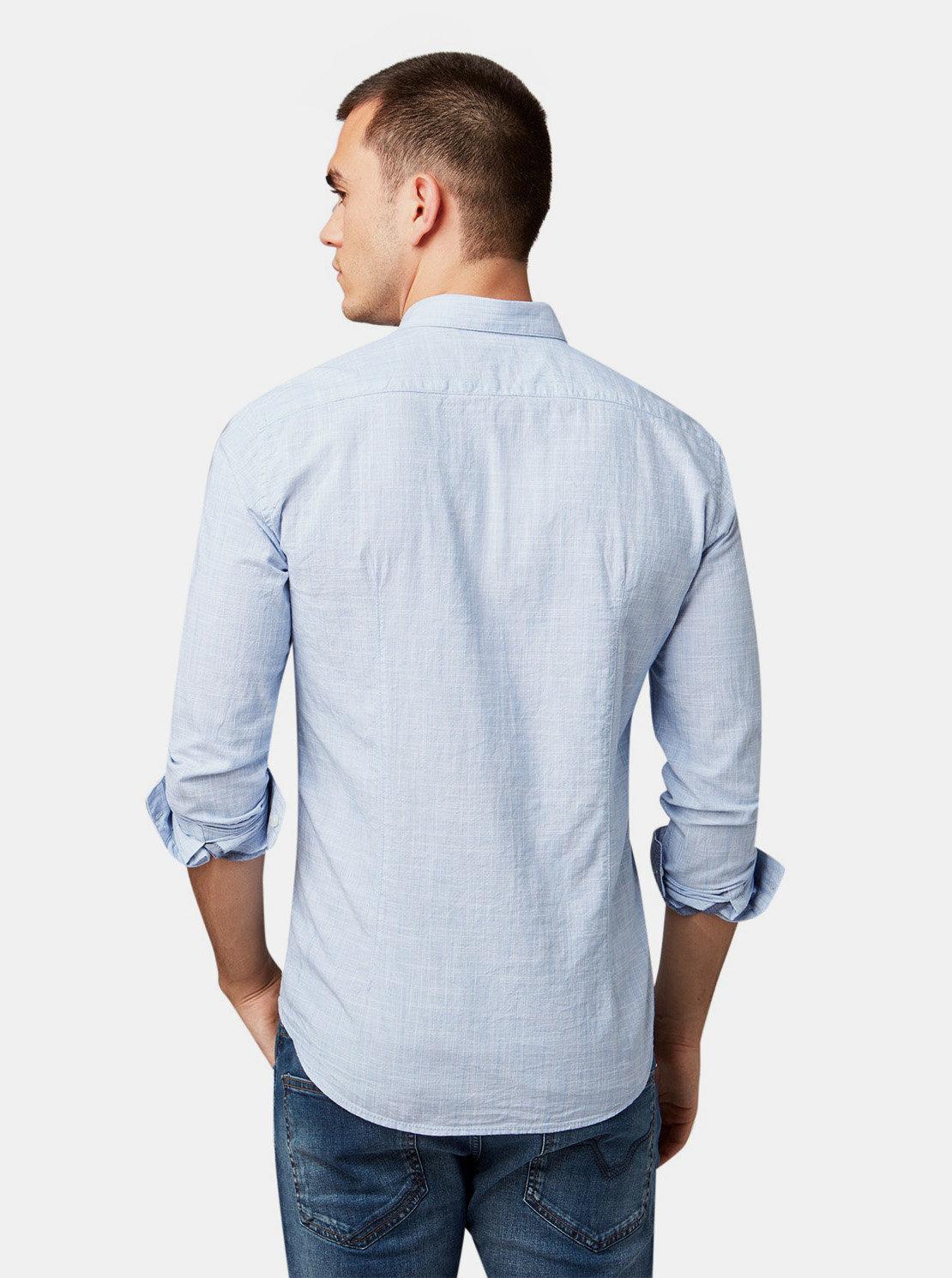 aca58caed86f Světle modrá pánská žíhaná košile Tom Tailor Denim ...