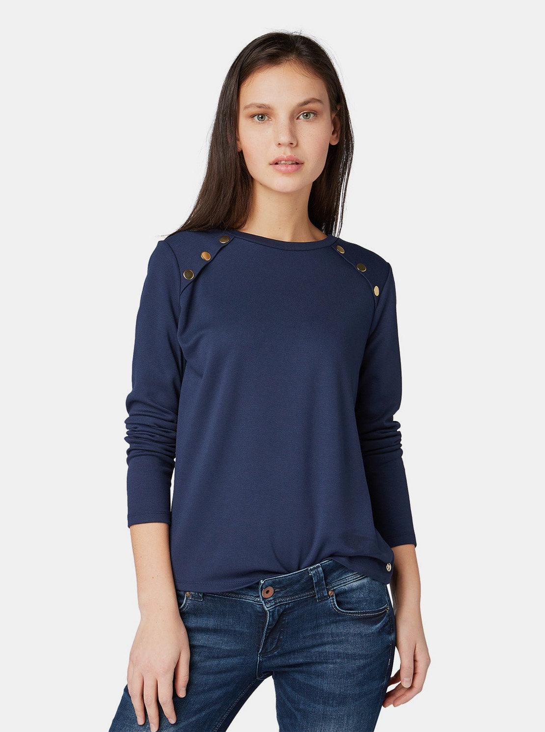 406c51efda02 Tmavě modré dámské tričko Tom Tailor Denim ...