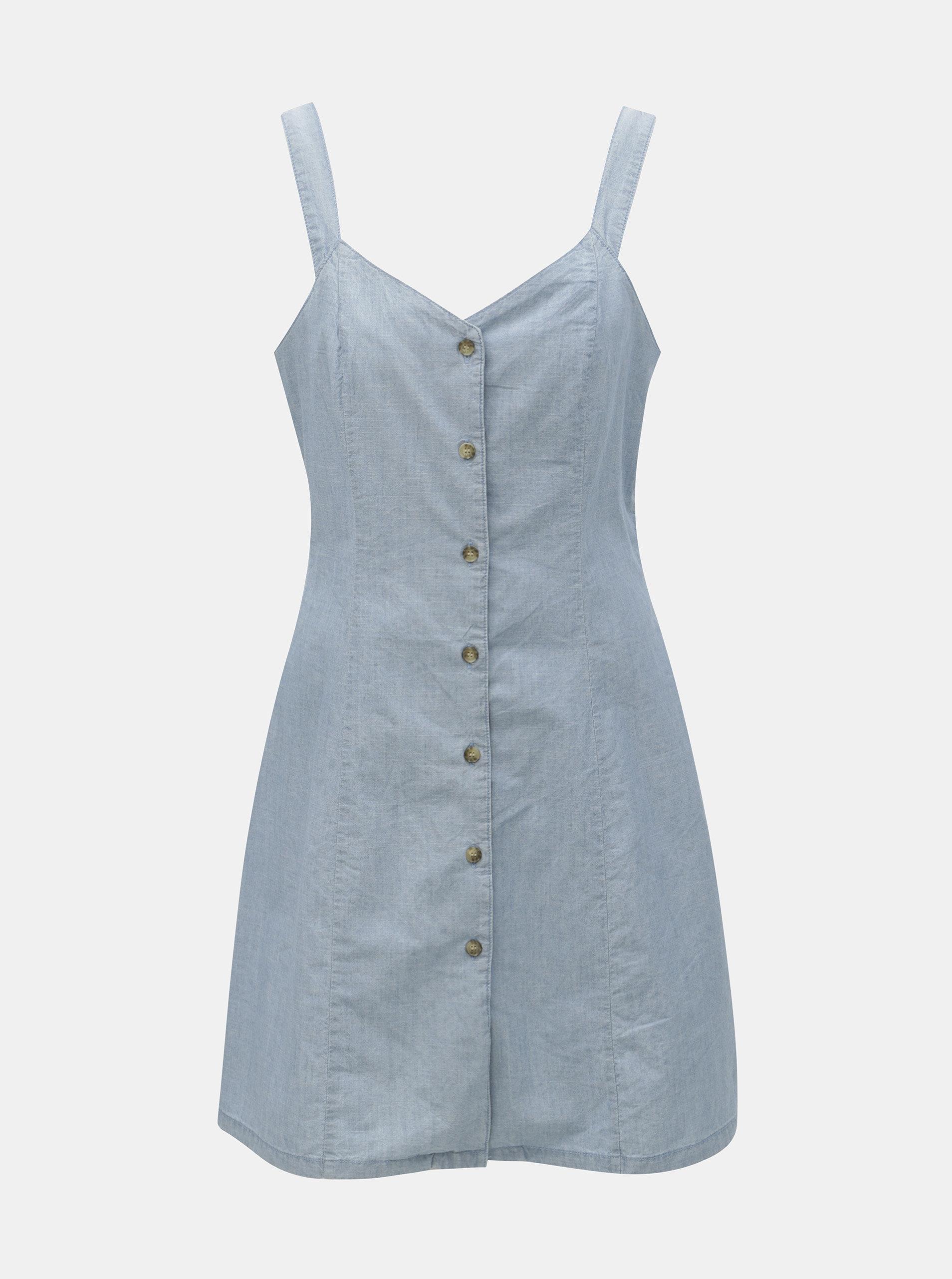 8b2df4ffb9dd Svetlomodré rifľové šaty VERO MODA Samantha ...