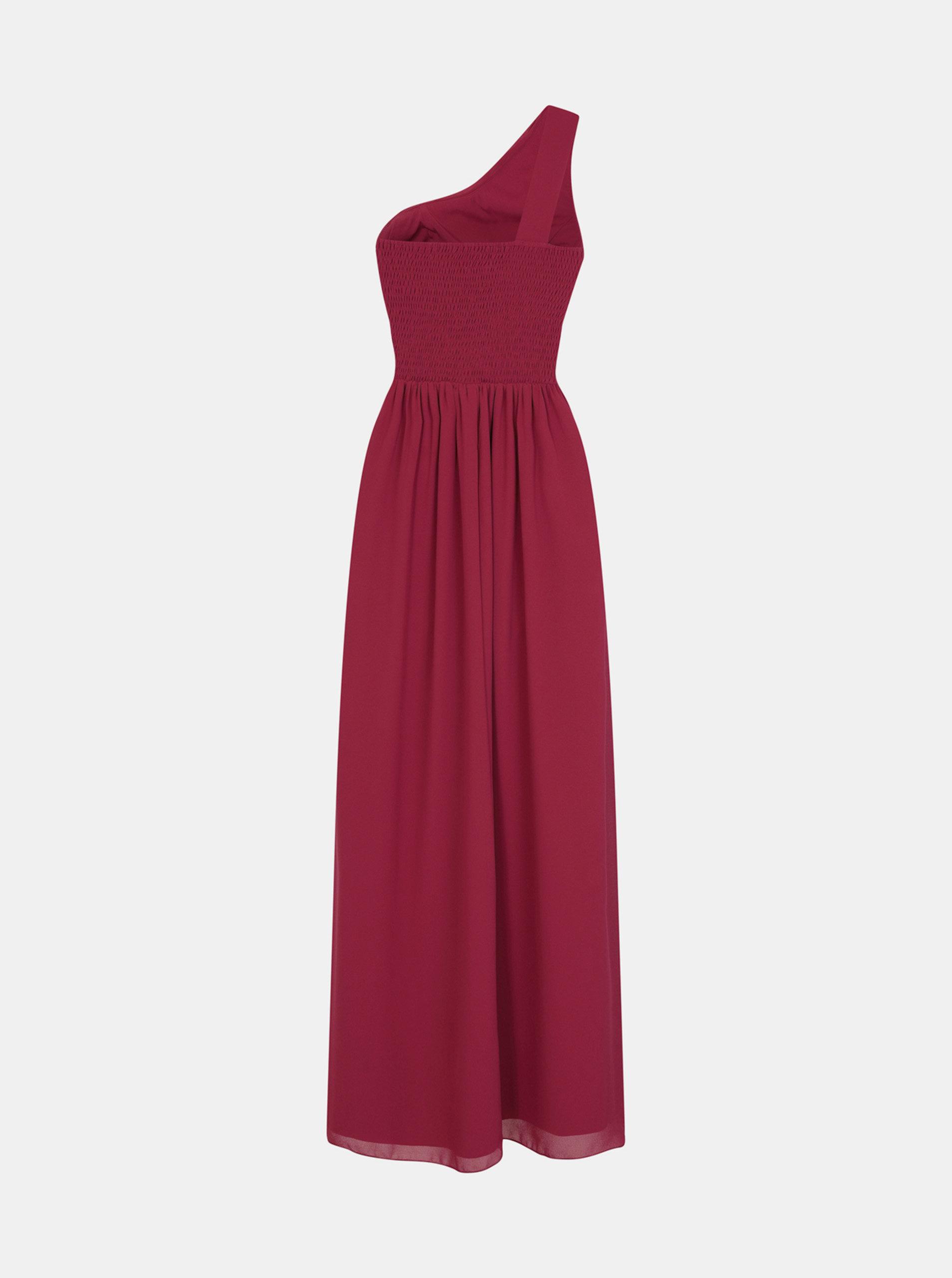 1f014e586544 Vínové šaty s čipkou na bokoch Little Mistress ...