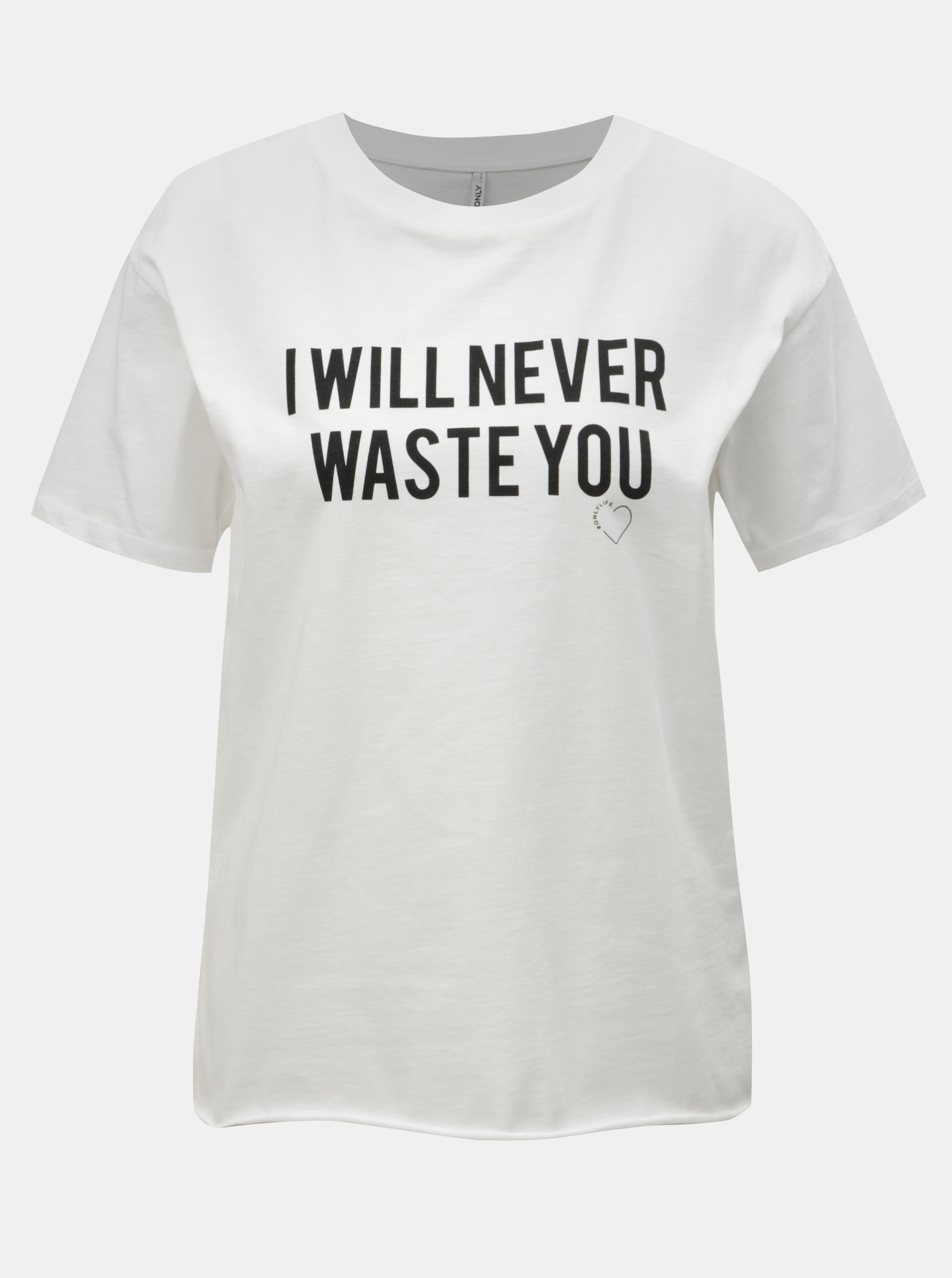 0f8211bfab8b9 Biele tričko s potlačou ONLY Heart | ZOOT.sk