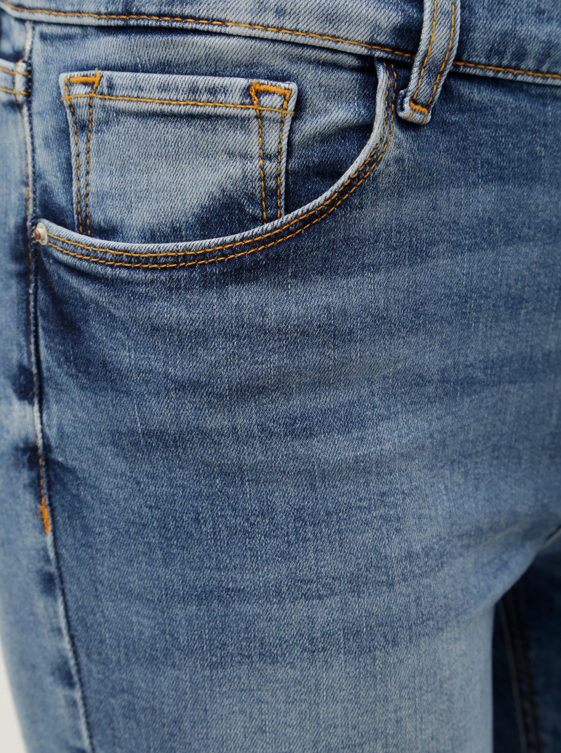 8307182fc543 Modré dámske rifľové kraťasy Cross Jeans Adele