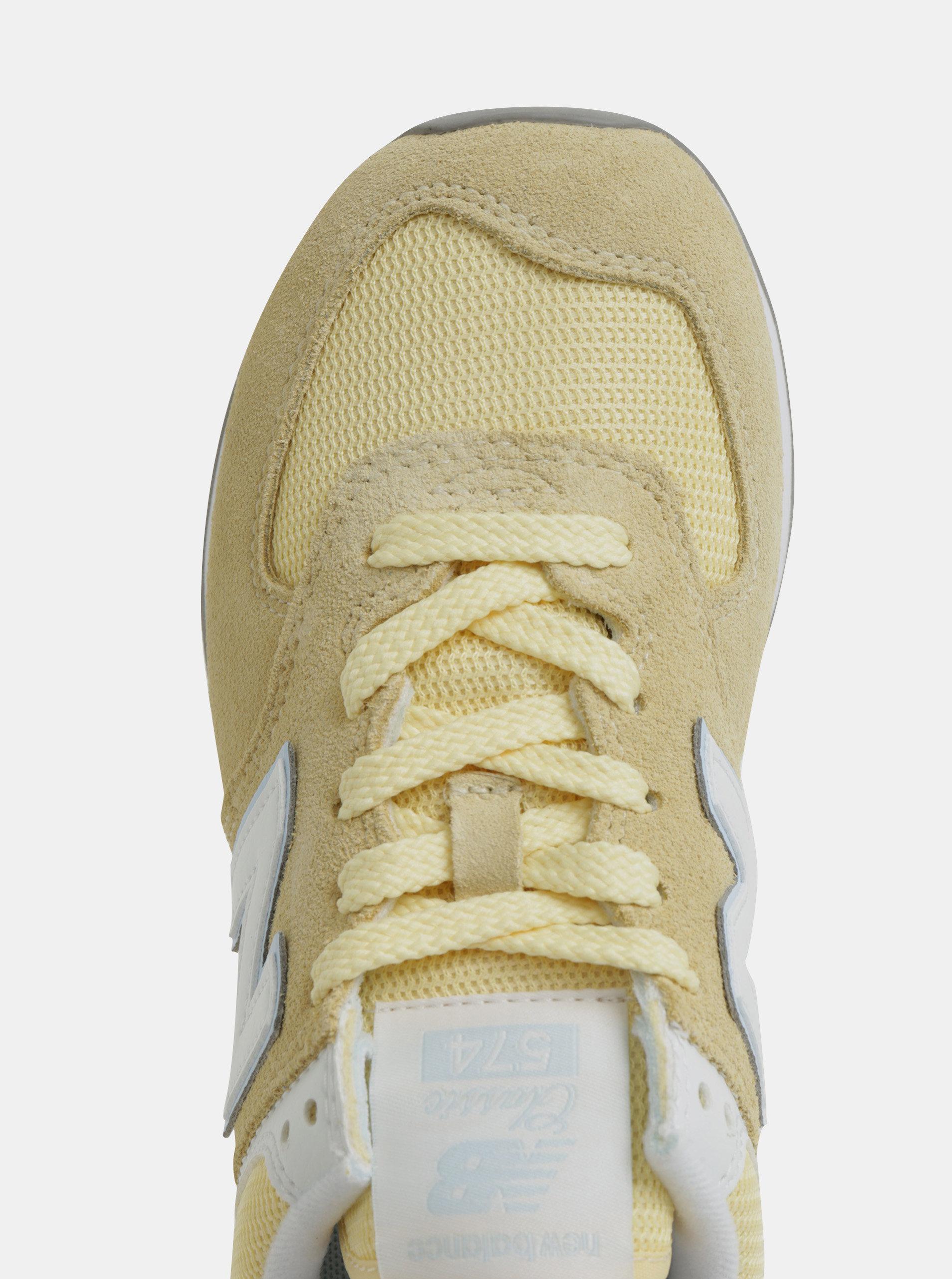 9ac5d1199ced Žlté dámske semišové tenisky New Balance 574 ...