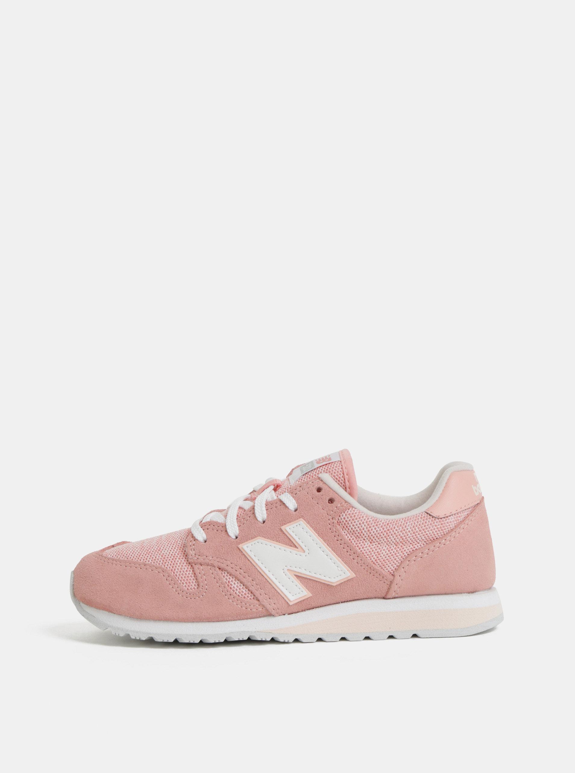 92ef269b2f69 Ružové dámske semišové tenisky New Balance 520 ...