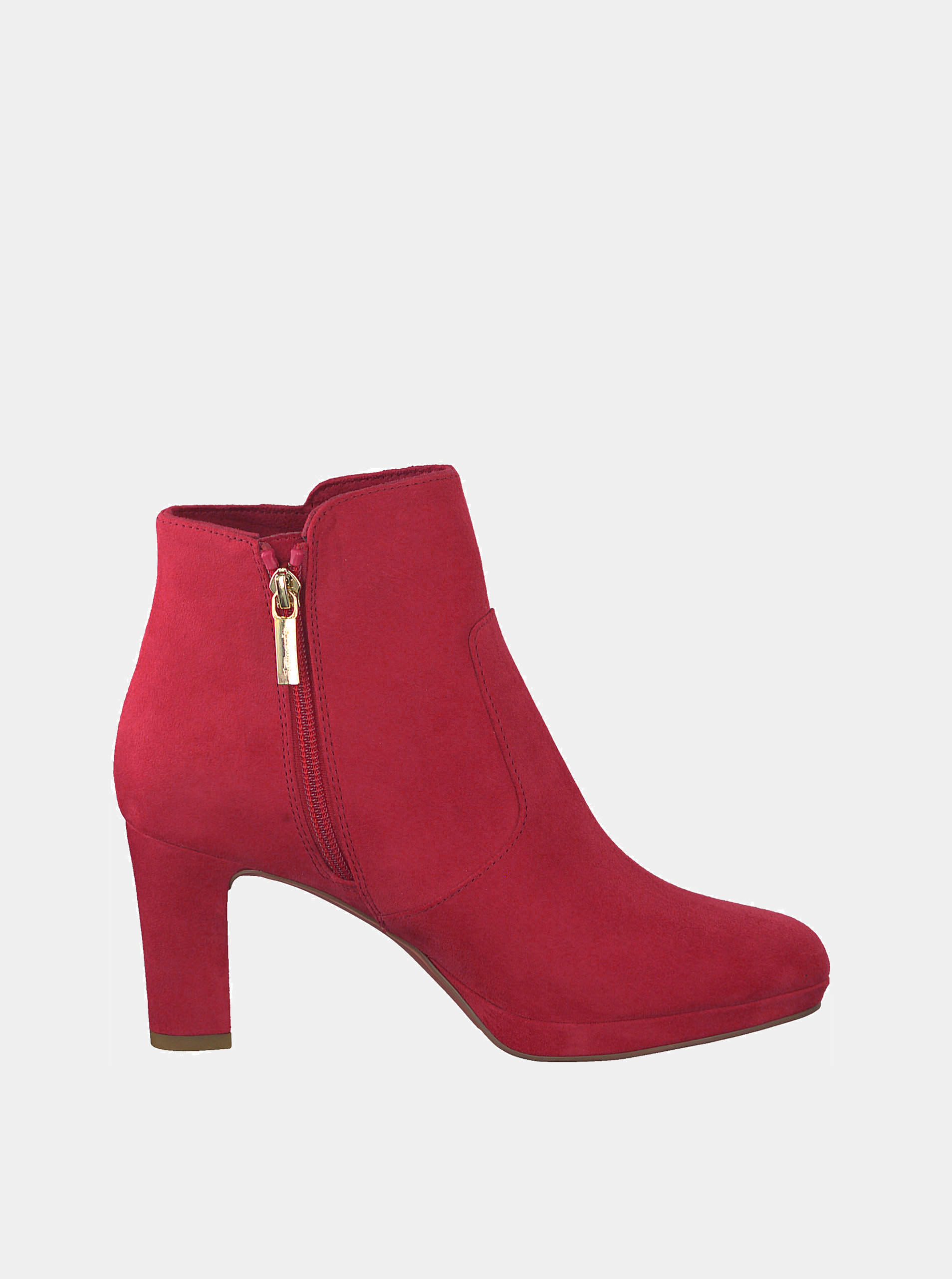 04bac811e0bce Červené členkové topánky v semišovej úprave Tamaris Maura | ZOOT.sk