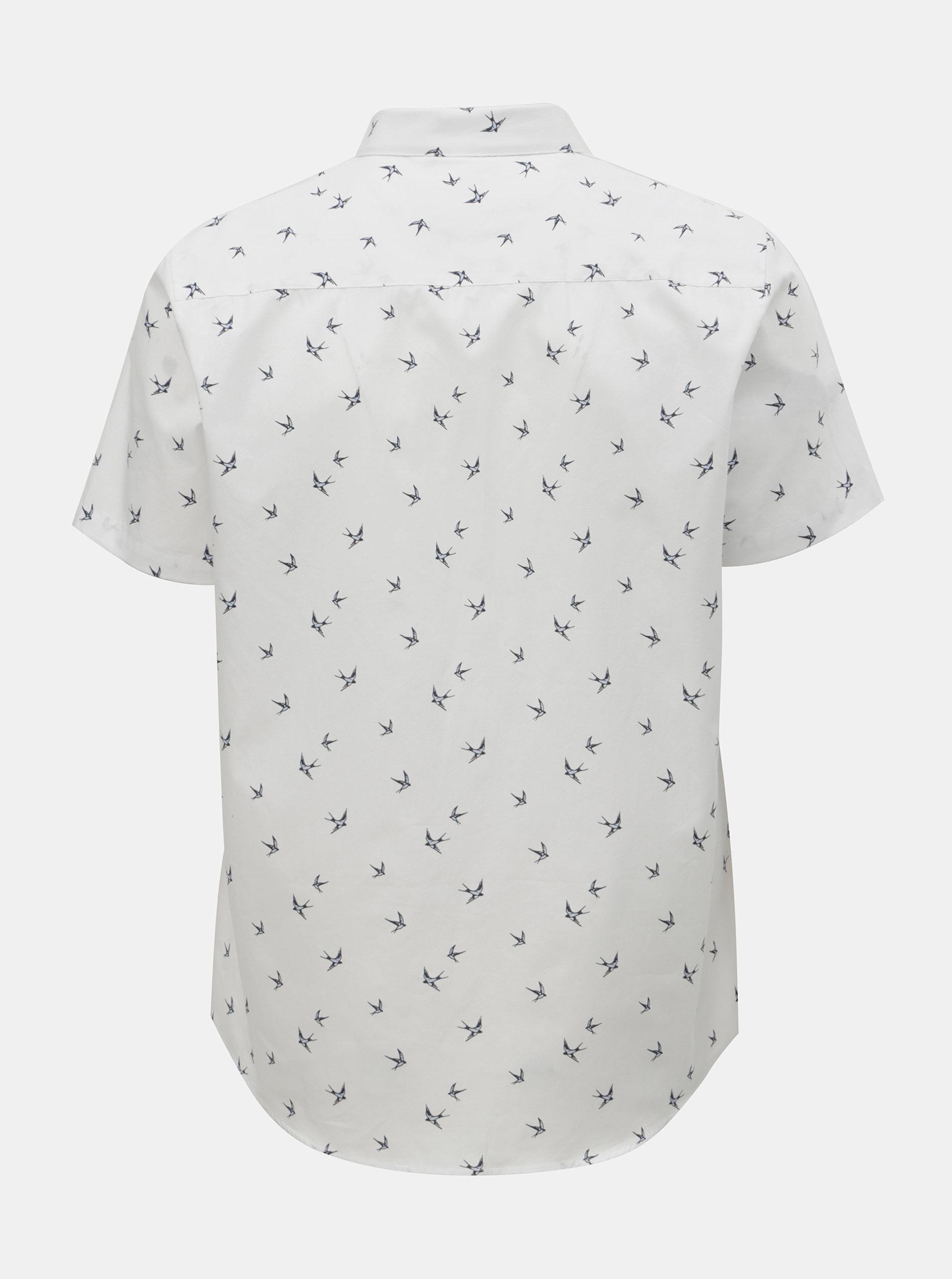 dc133edb1d3f Biela vzorovaná košeľa Burton Menswear London ...