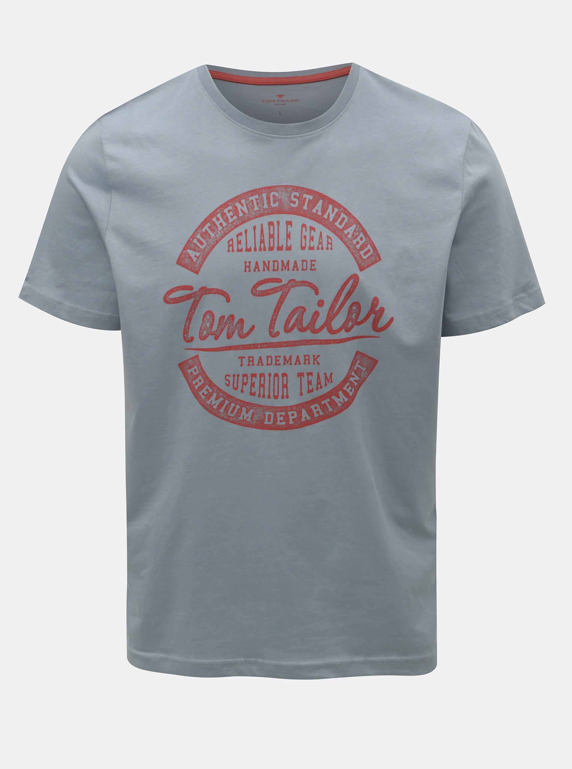 58b7e19b77f3 Modré pánské tričko Tom Tailor ...