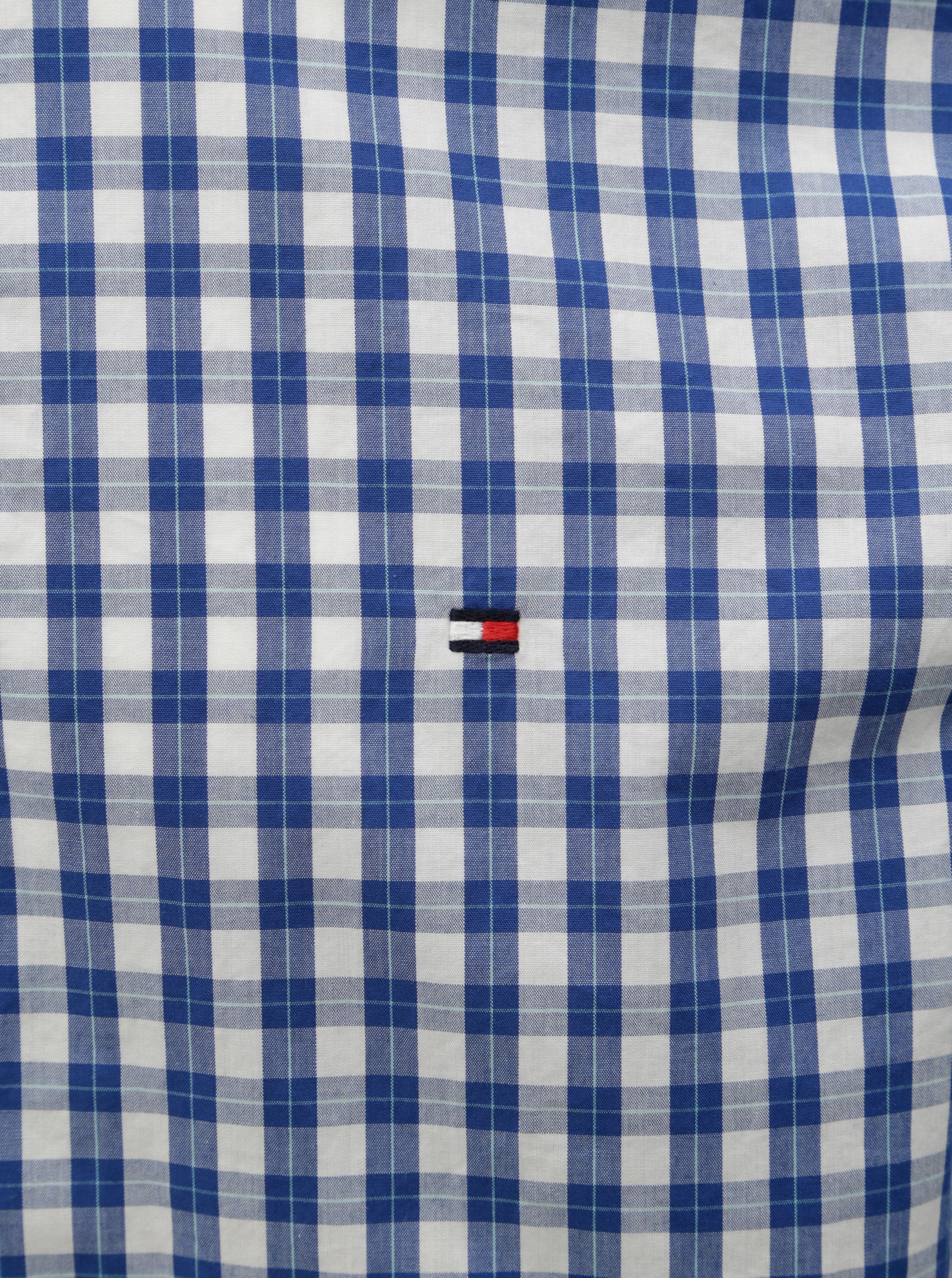 e3ef6ccff04c Modrá pánska kockovaná slim fit košeľa Tommy Hilfiger ...