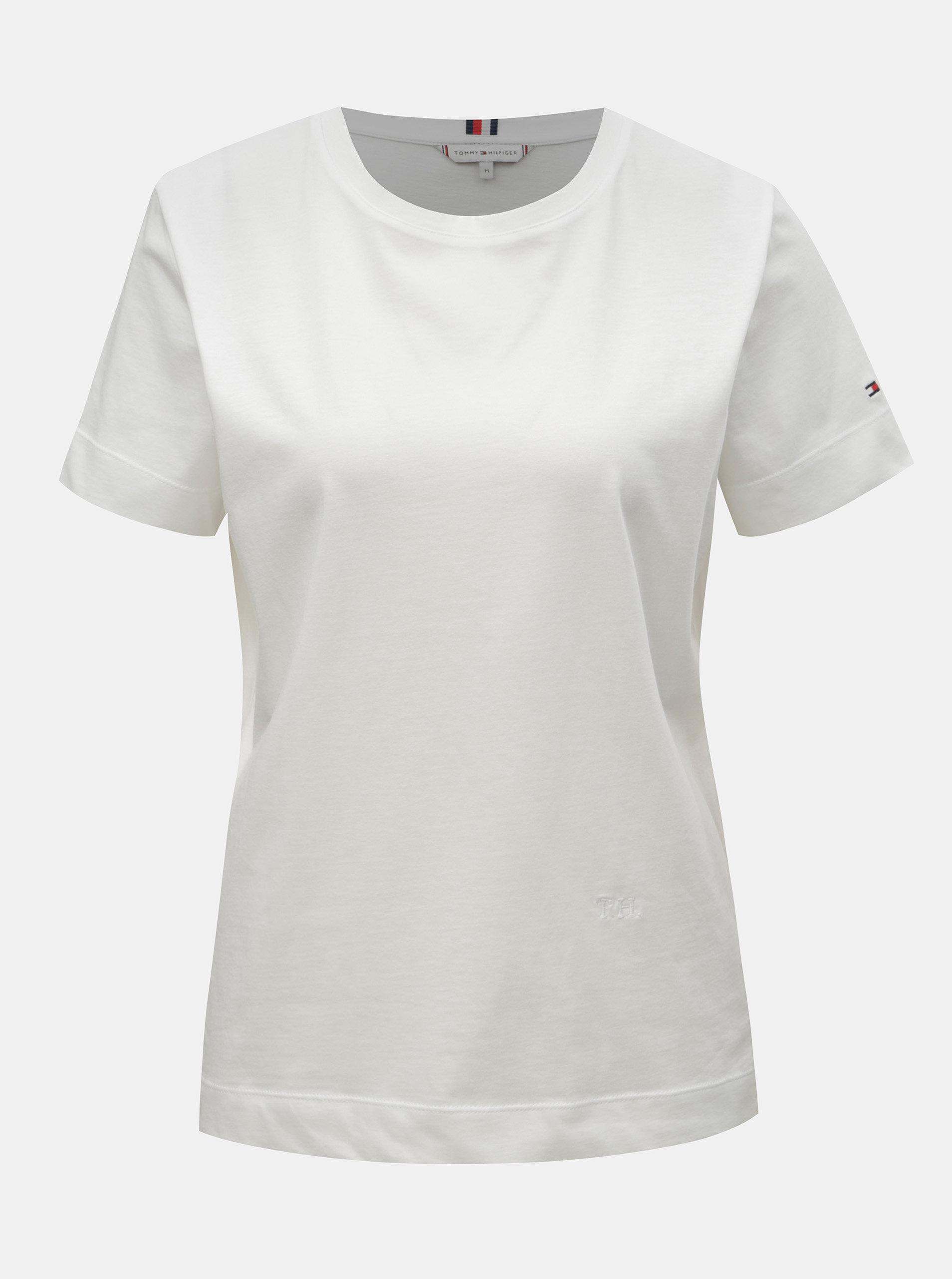 ff59f5da9d Bílé dámské basic tričko Tommy Hilfiger ...