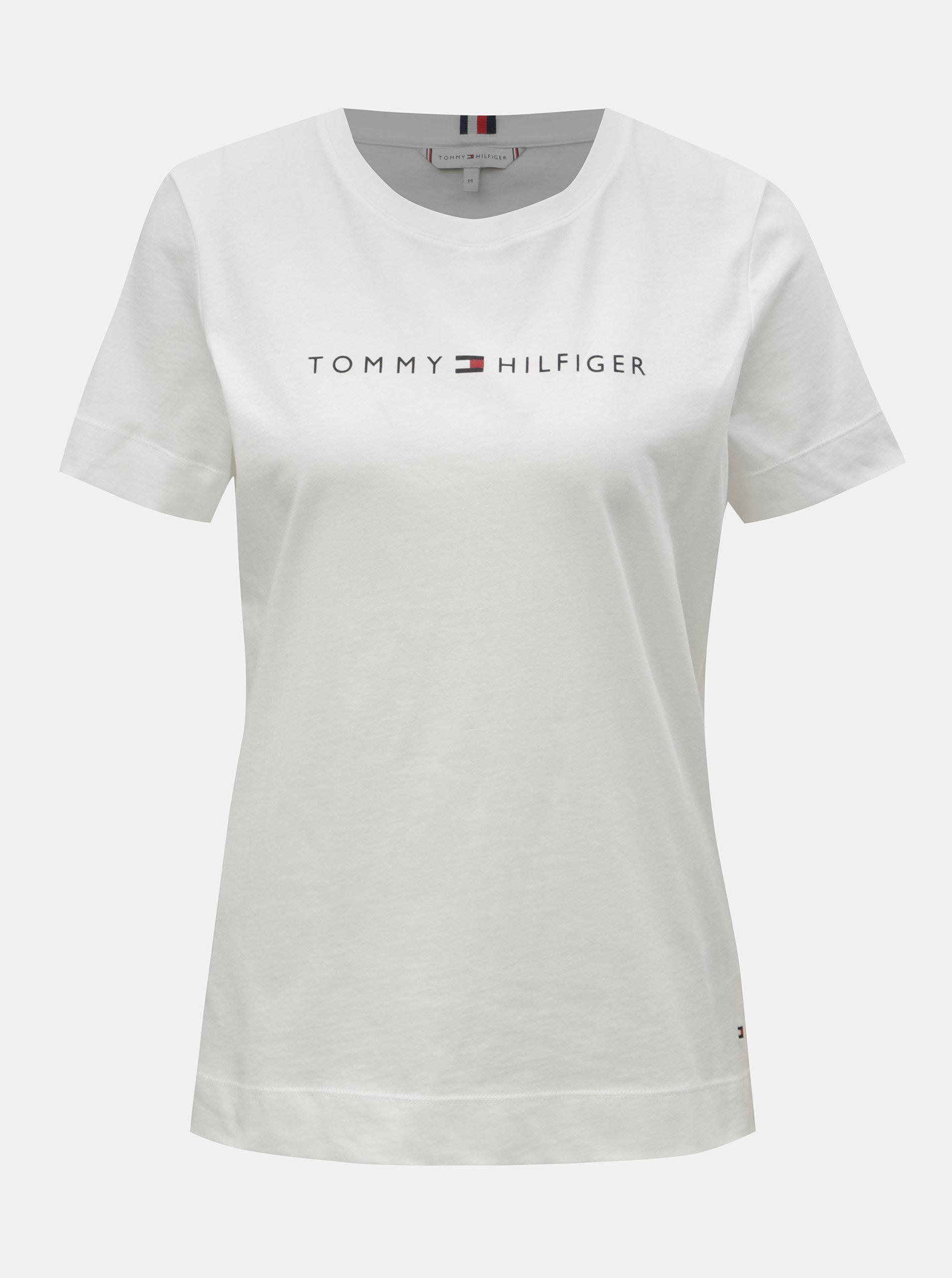 3d607b4e7e Biele dámske tričko Tommy Hilfiger ...