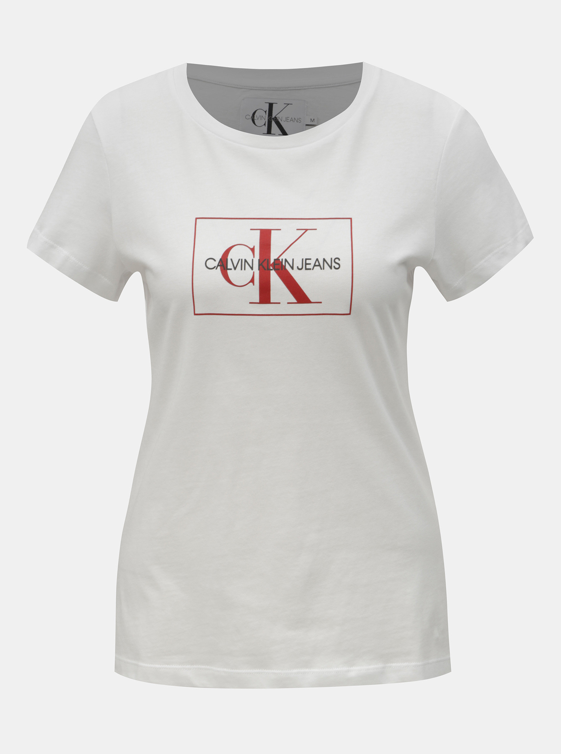 7faea2899e3b Biele dámske tričko s potlačou Calvin Klein Jeans ...