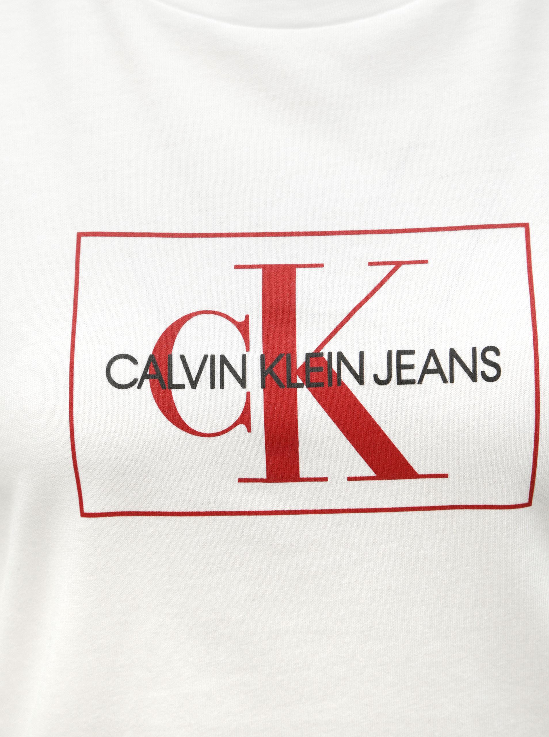 952968e2d Biele dámske tričko s potlačou Calvin Klein Jeans   ZOOT.sk