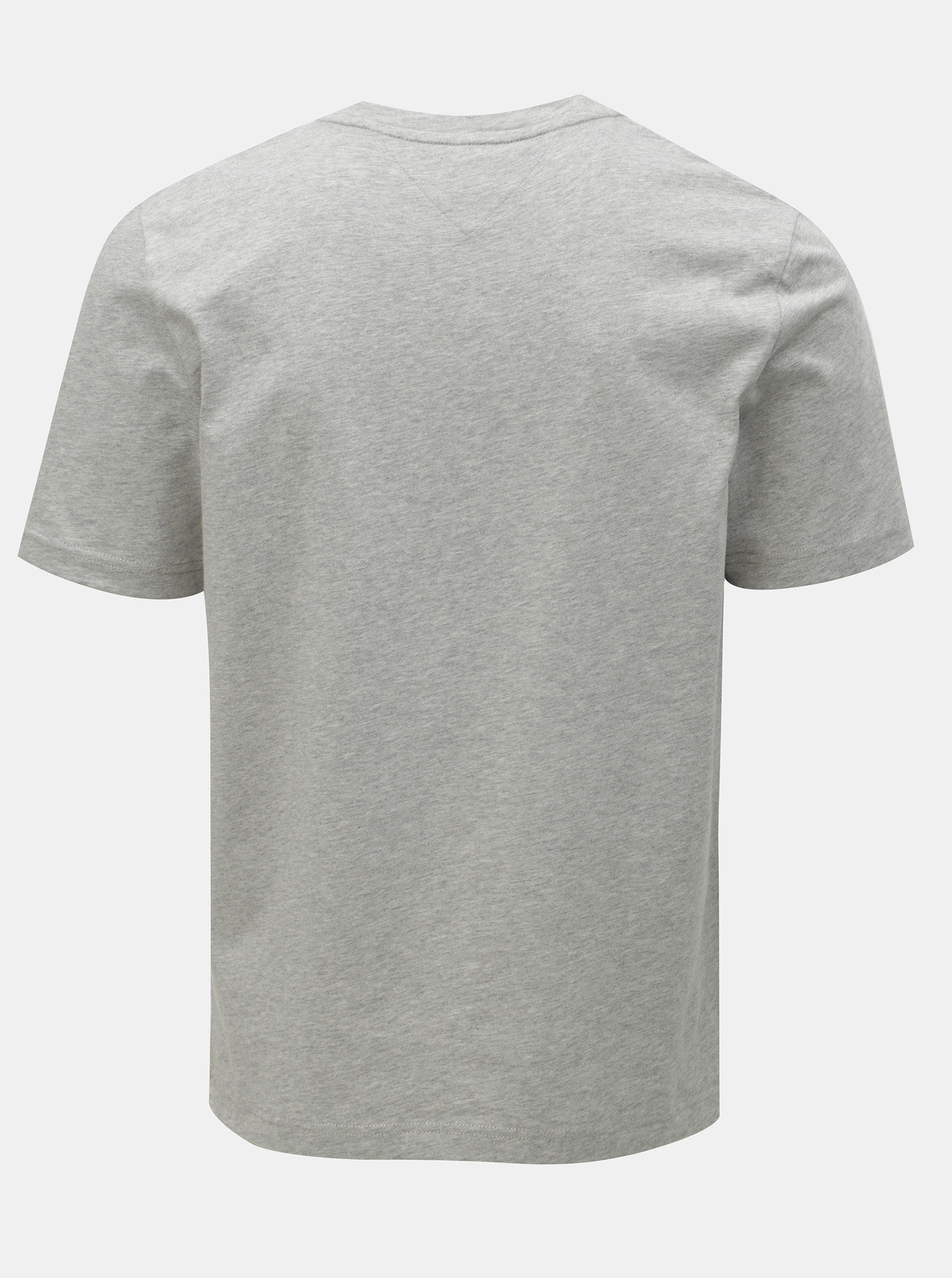 316a4e198e29 Světle šedé pánské žíhané tričko Tommy Hilfiger ...