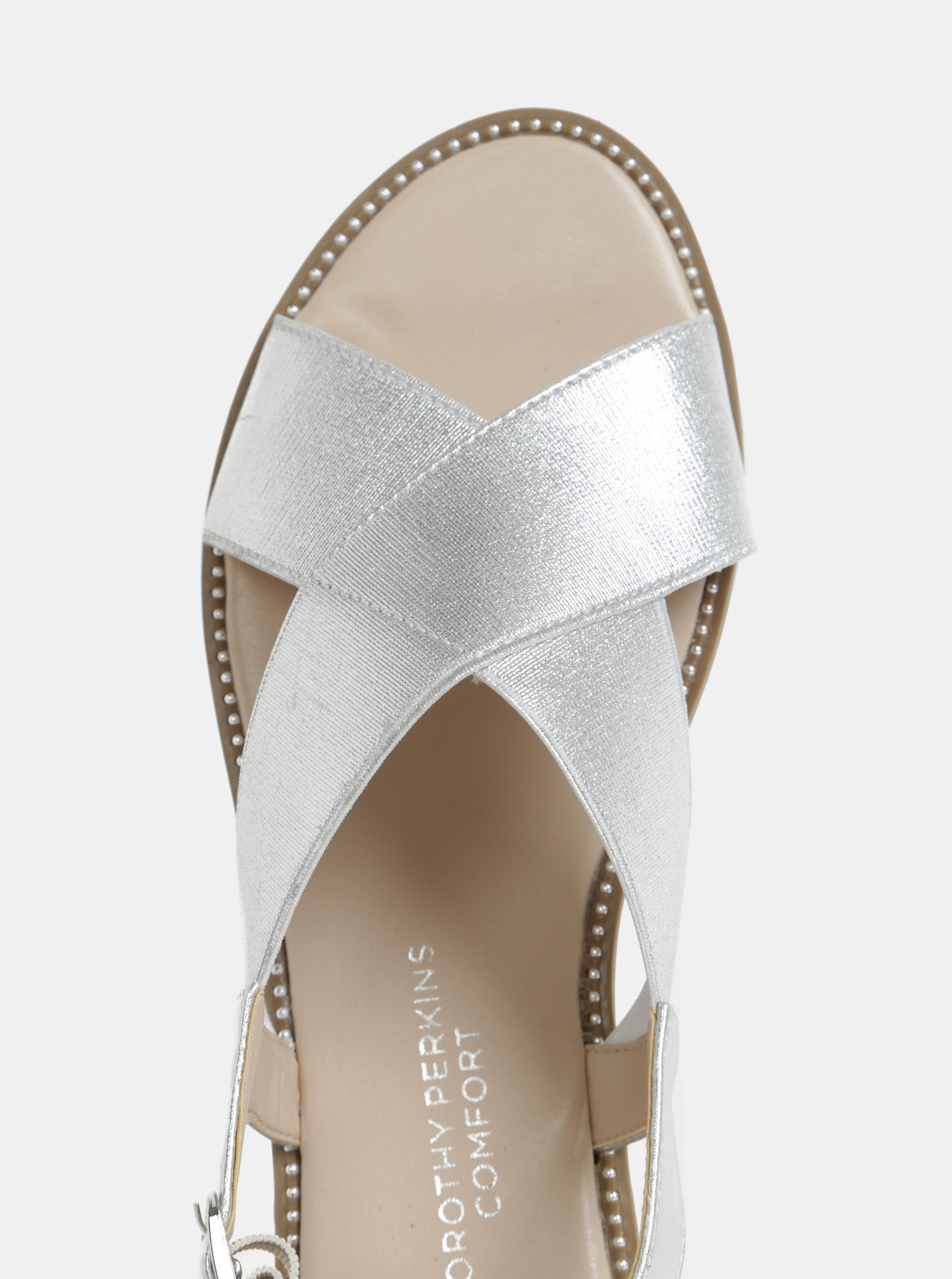 5ff91cd1e0ab Sandále v striebornej farbe Dorothy Perkins ...