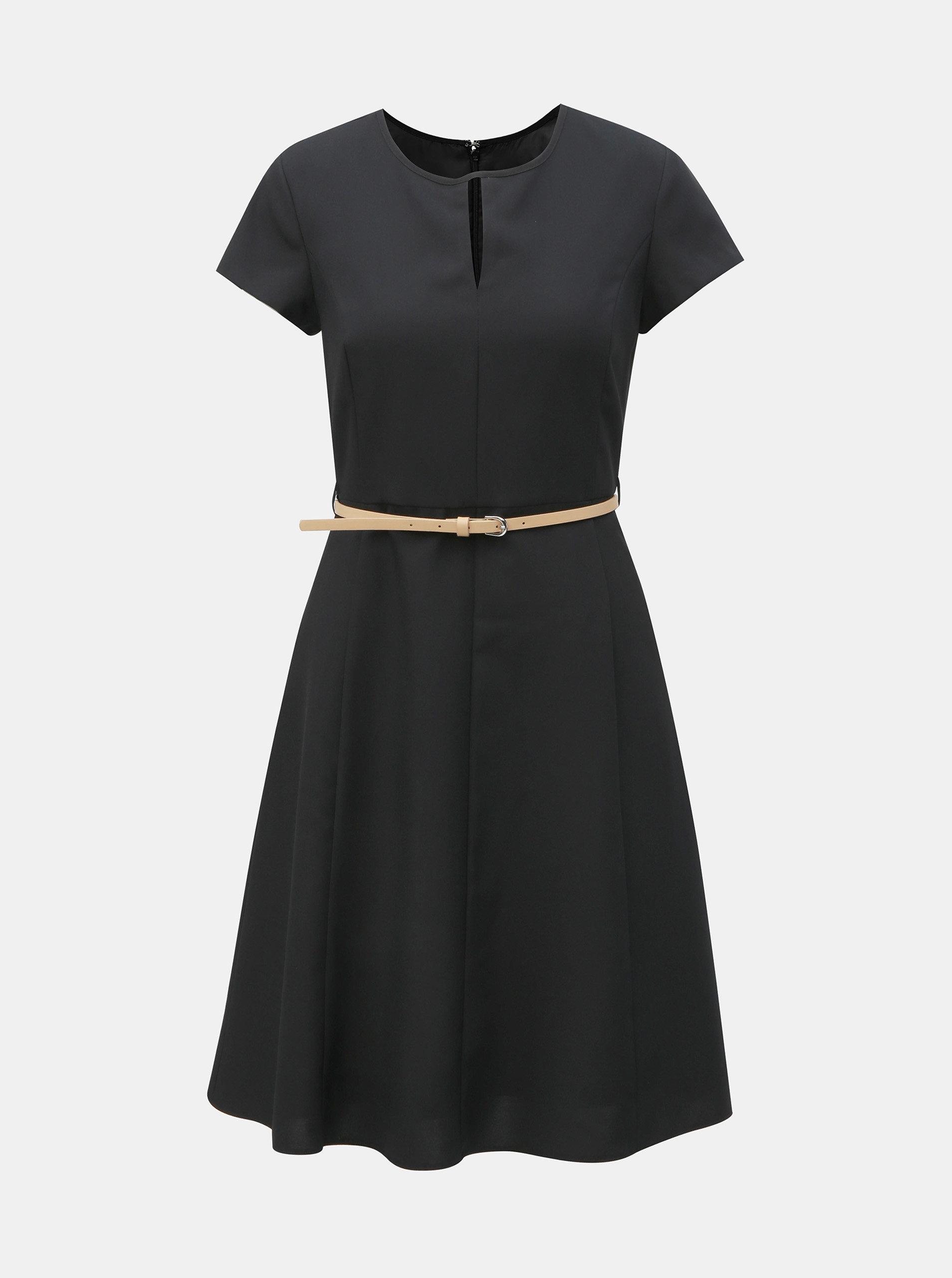 653d86f177a4 Čierne šaty s opaskom Dorothy Perkins ...